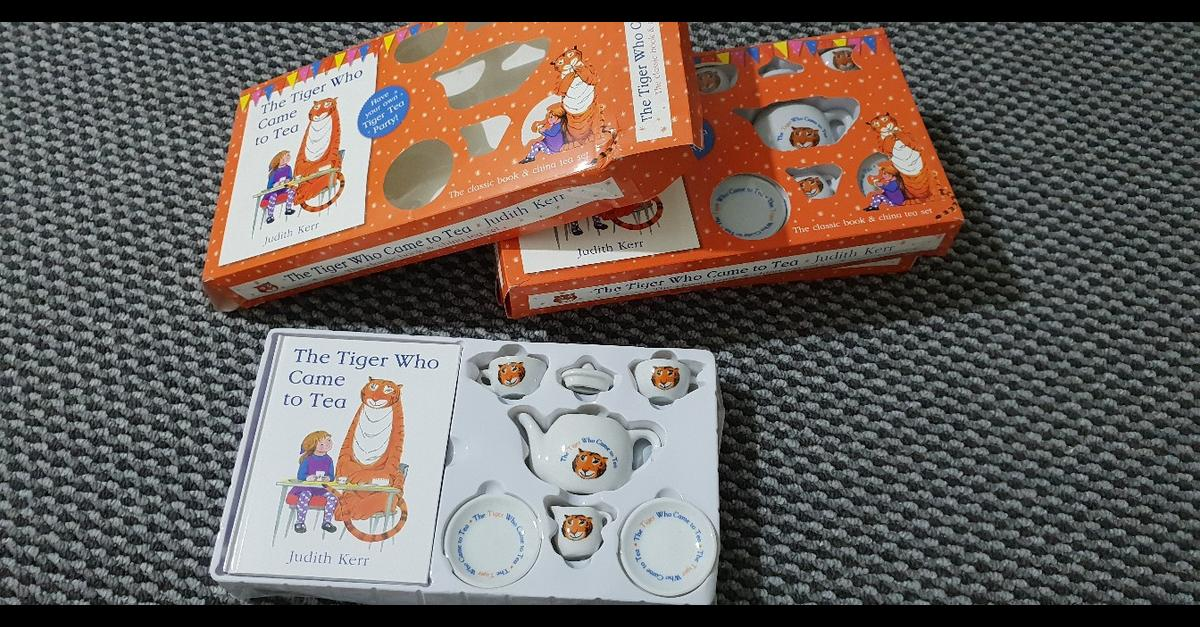 The Tiger Who Came To Tea Book And Tea Set in BD5 Bradford