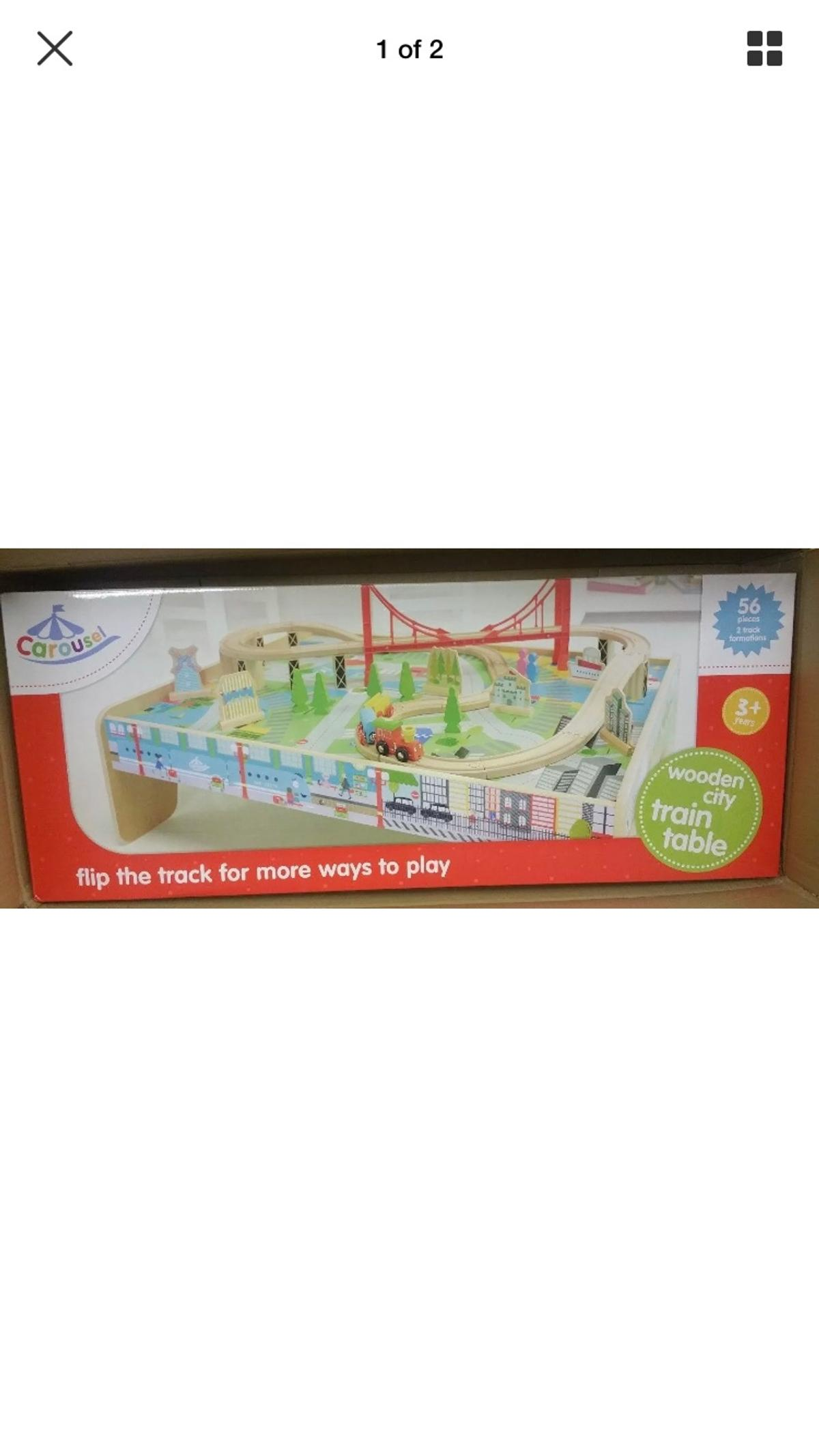 Resell Carousel Wooden Train Table Bnib