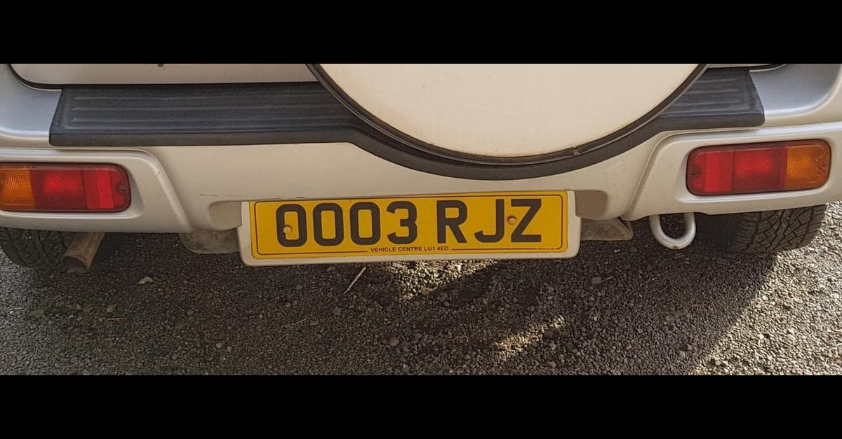 Private number plates only 0003 RJZ