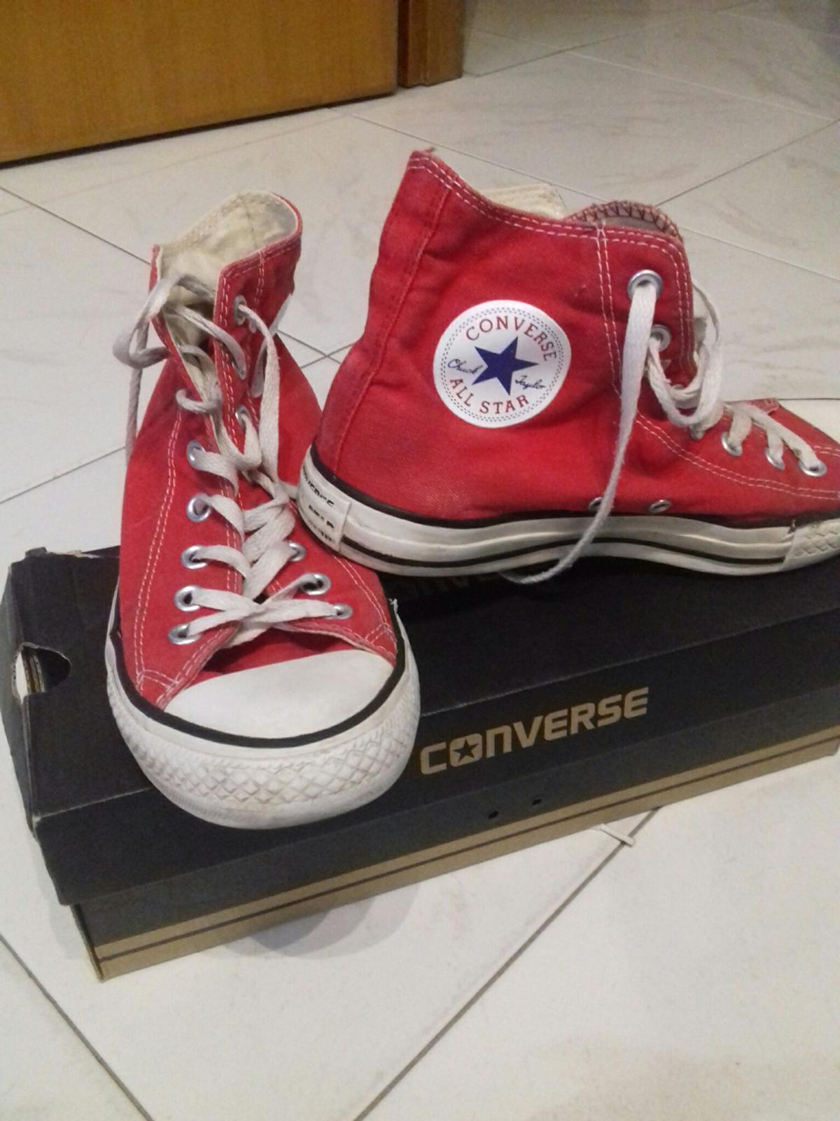 outlet store d875d 35dc0 CONVERSE ALL STAR HI RED UNISEX