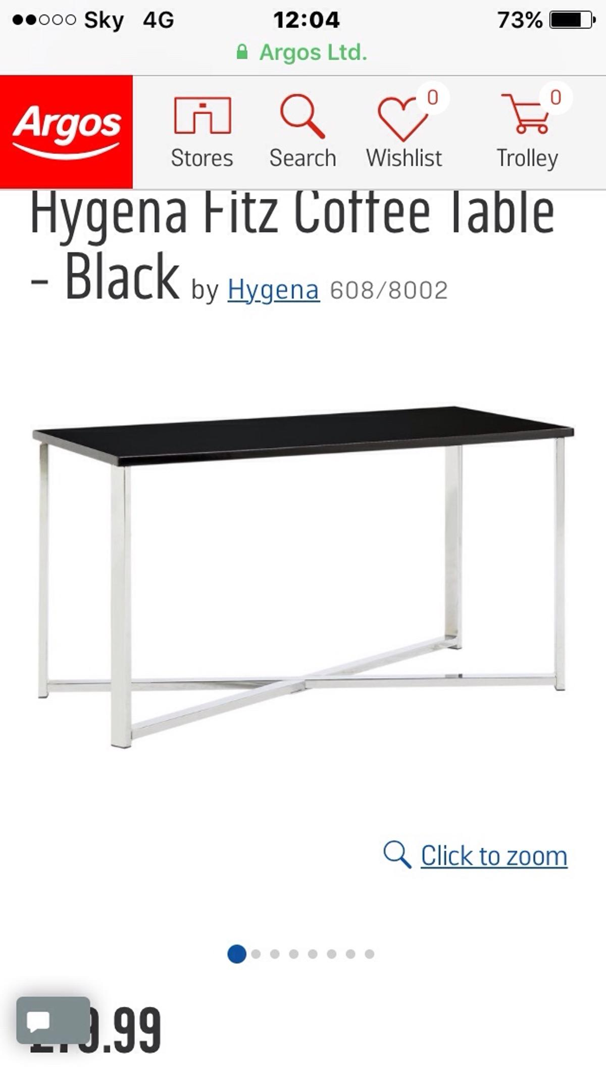 Black Coffee Table In Stratford On Avon For 4000 For Sale