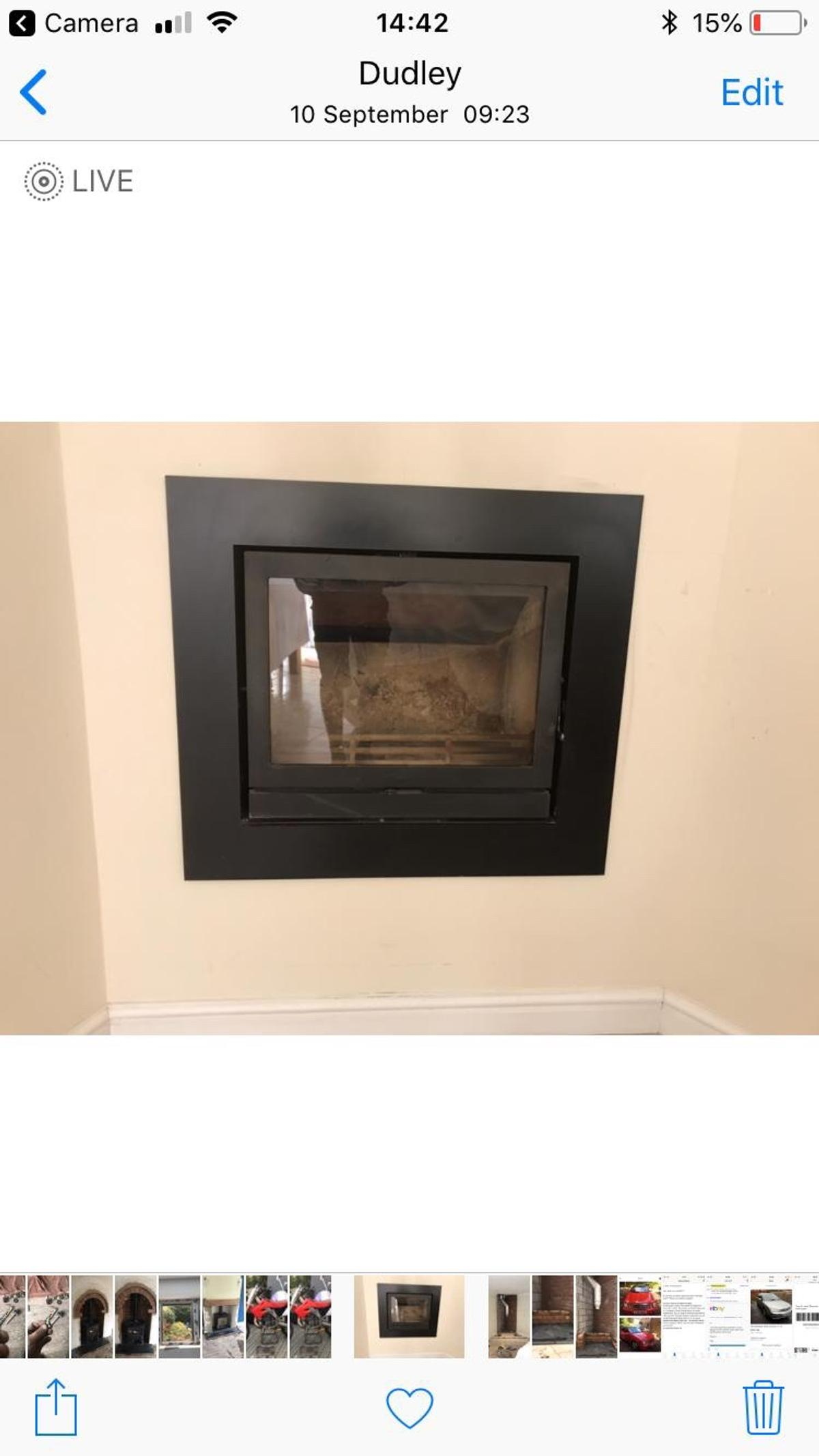 Wood Burning Stove Hole In Thewall Fire Inset In B64 Sandwell For