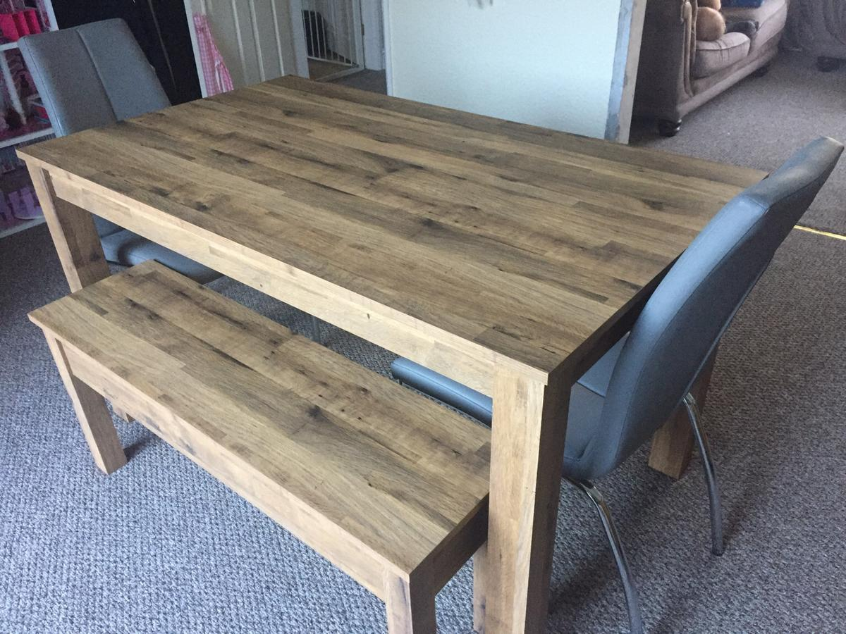 Awesome Next Bronx Table With 2 Benches 2 Chairs Machost Co Dining Chair Design Ideas Machostcouk