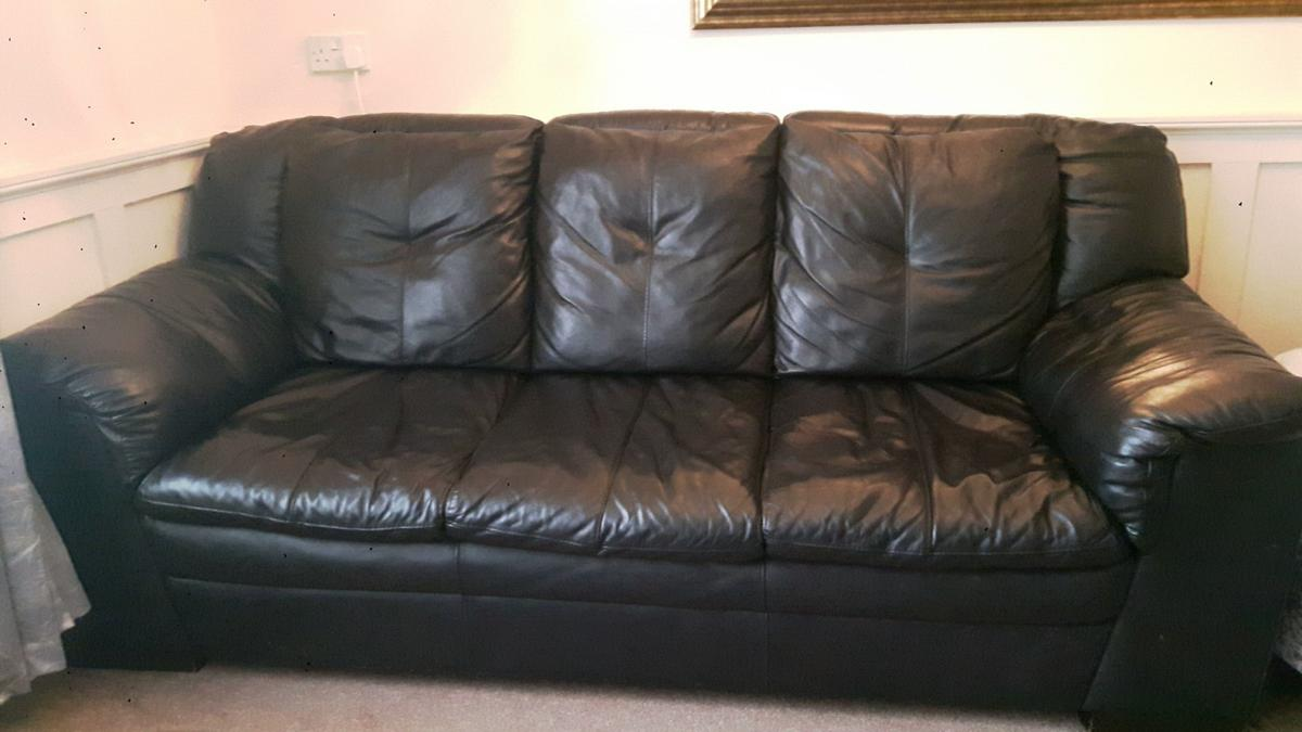 Dfs 100 Black Leather Sofa 3 Seater