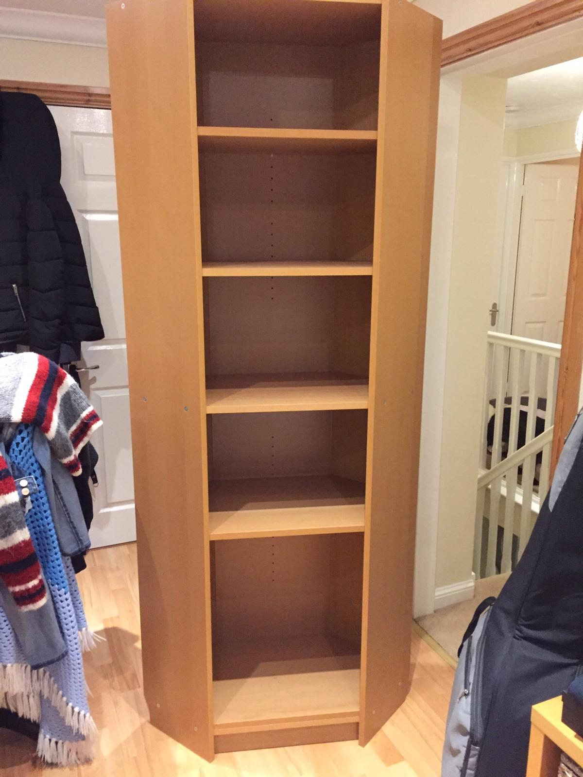 Ikea Billy Corner Bookcase Beech