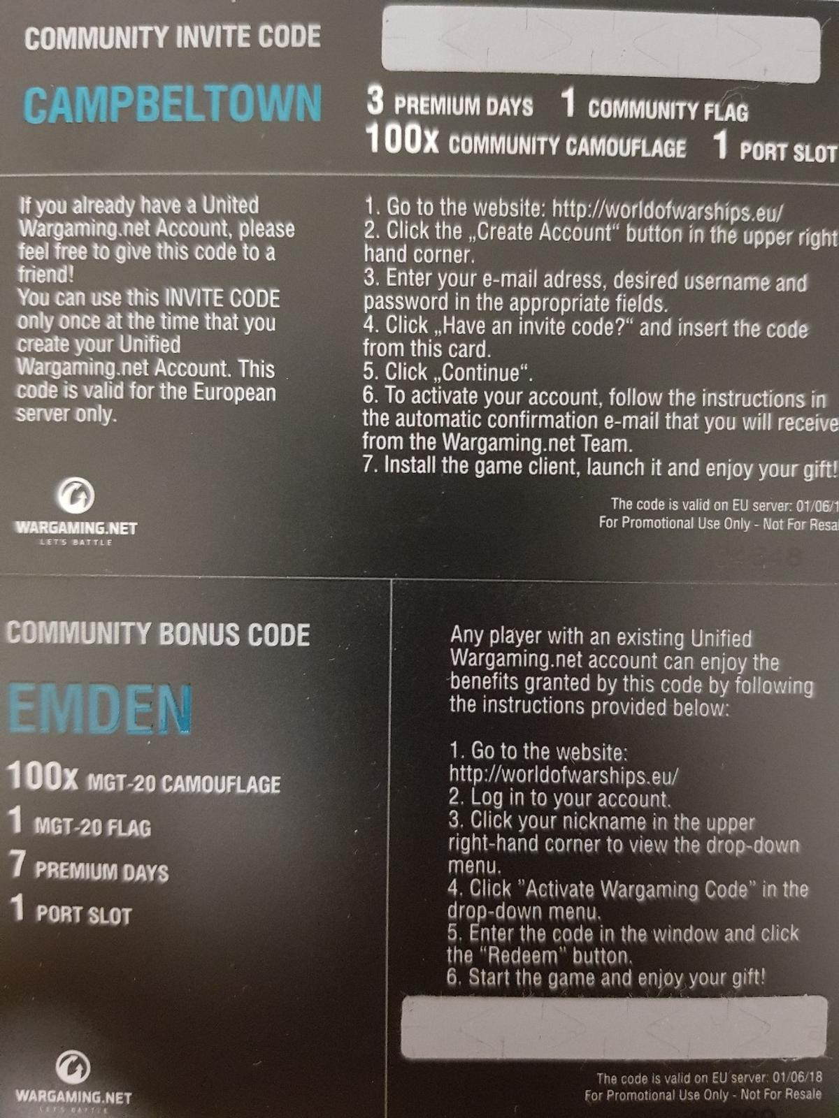 Wargaming Codes World Of Warships