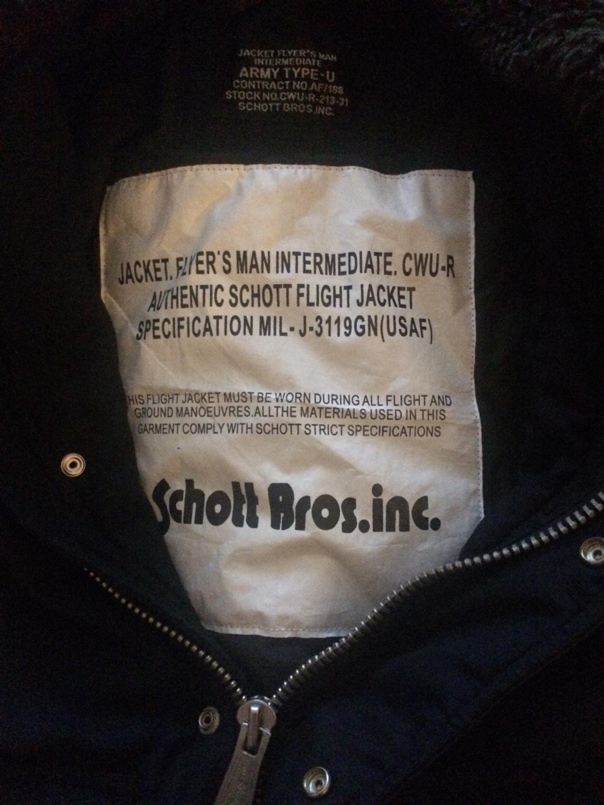 2018 shoes good out x excellent quality Schott bros flight jacket in B61 Bromsgrove for £40.00 for ...