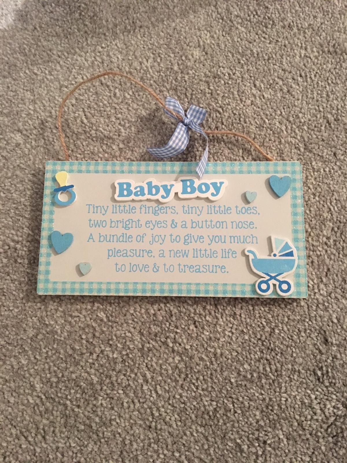 Baby boy quote hanging plaque