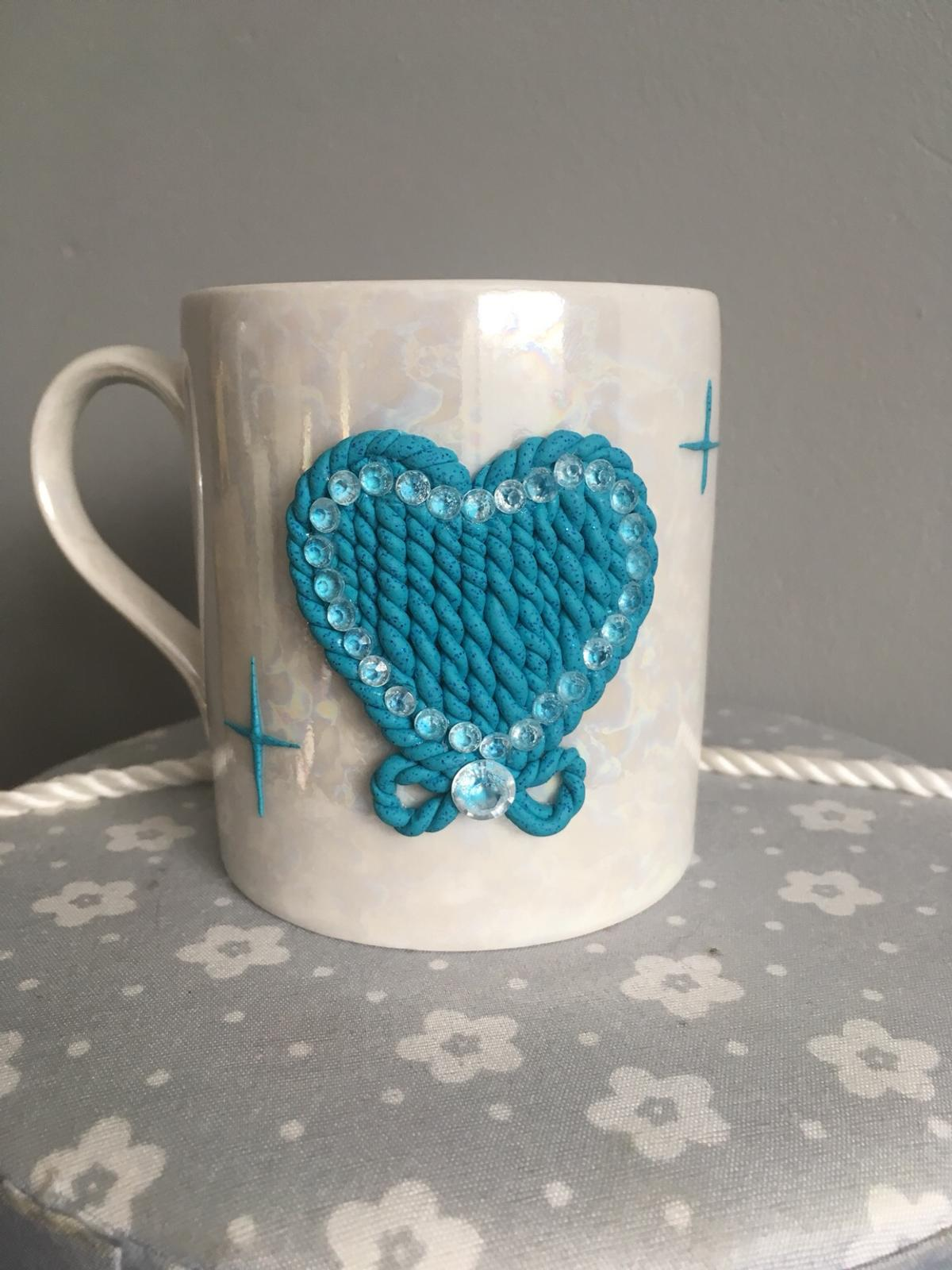 Polymer Clay Heart Tea Cup In Me15 Maidstone For 15 00 For Sale Shpock