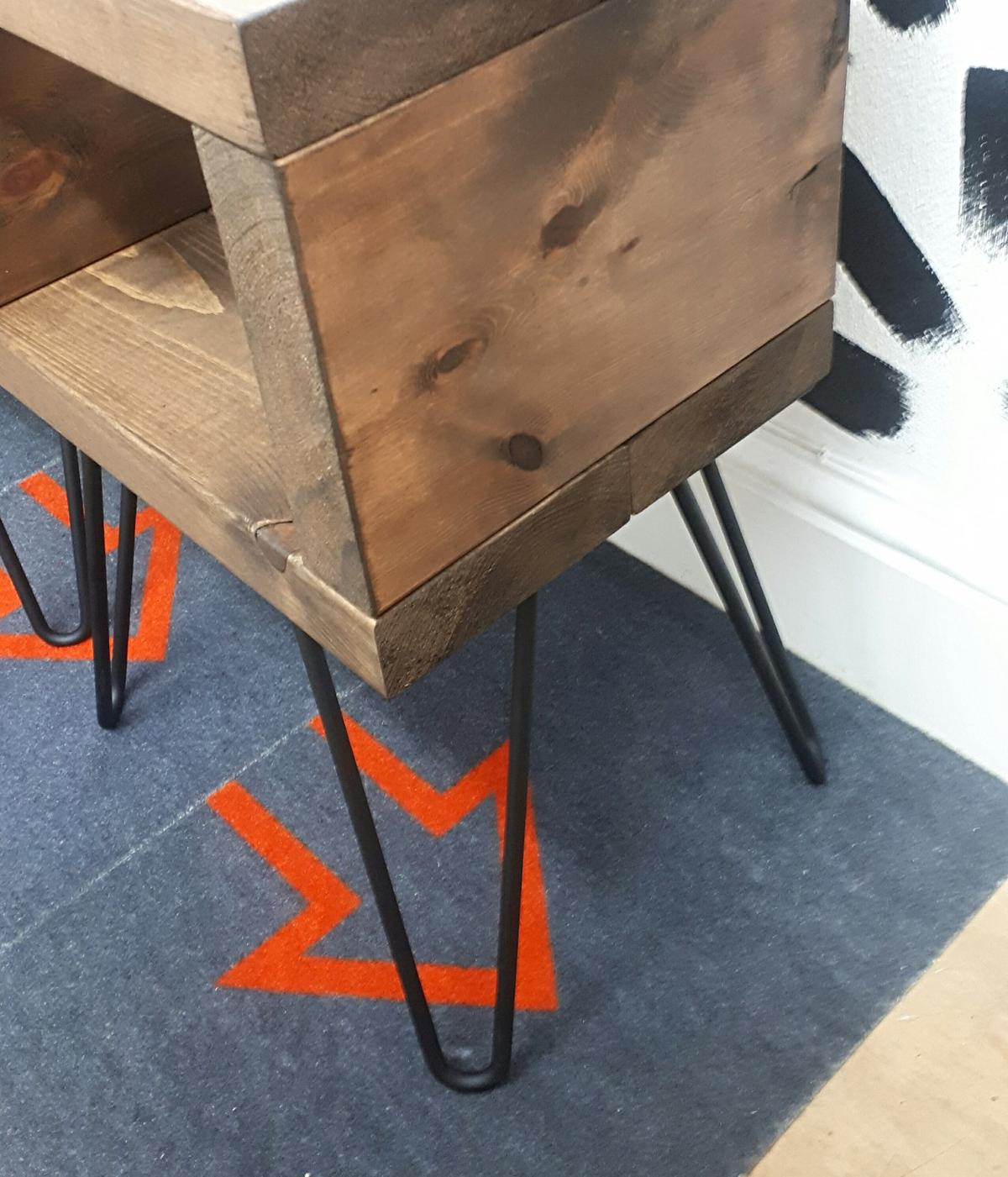 Poly Side Table With Black Rustic Iron And Wood S Art Vintage Furniture Manufacturer Supplier View