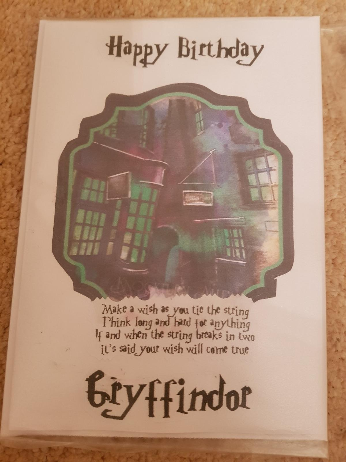 Harry Potter Birthday Card.Harry Potter Cards In Barnsley For 3 00 For Sale Shpock