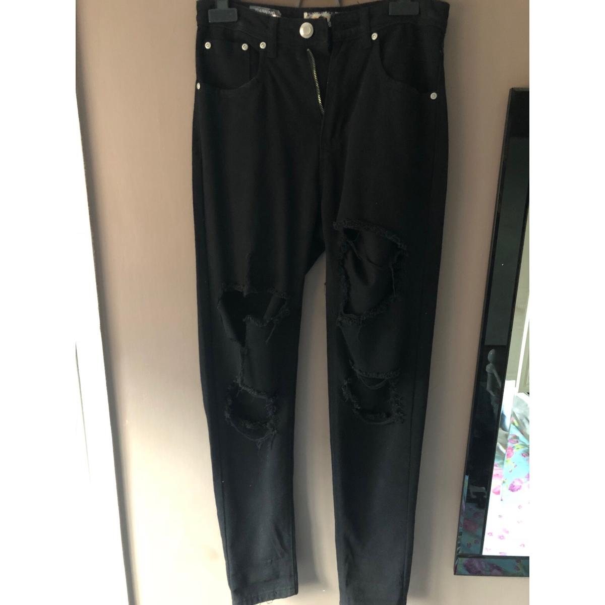 sale usa online united states popular stores Boohoo black ripped jeans