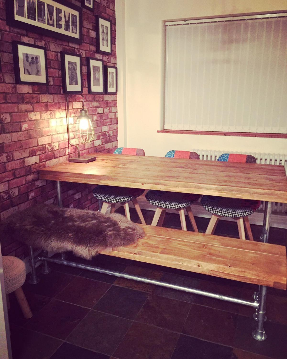 Rustic Dining Table And Benche In Bury