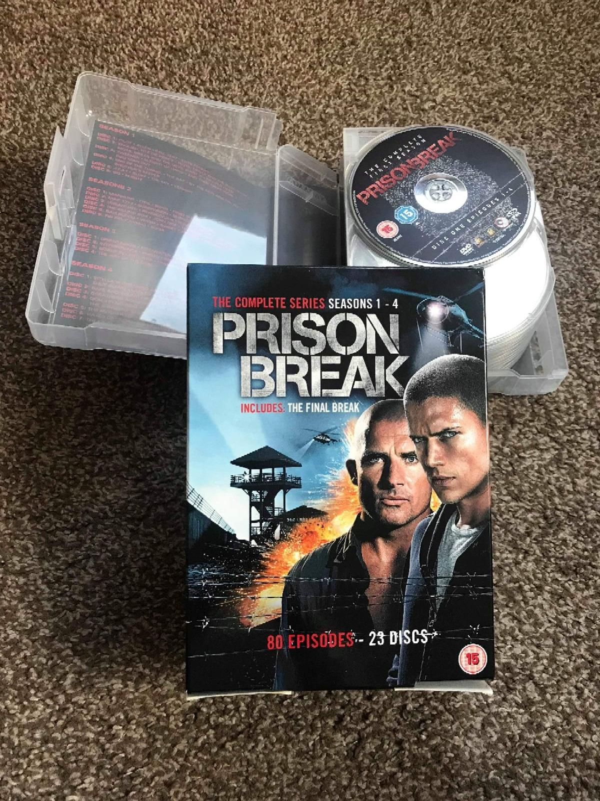 Prison Break Season 1 4 Box Set In Bl8 Elton For 25 00 For Sale Shpock