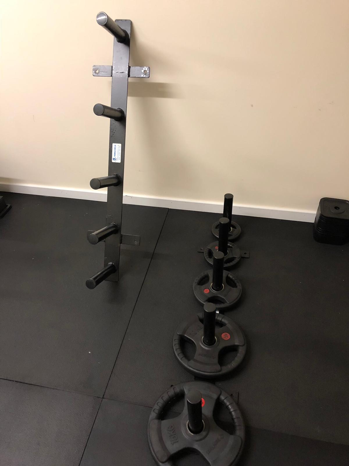 Wall Mount Olympic Weight Plate Storage Rack In Mk43 Cranfield For 45 00 For Sale Shpock