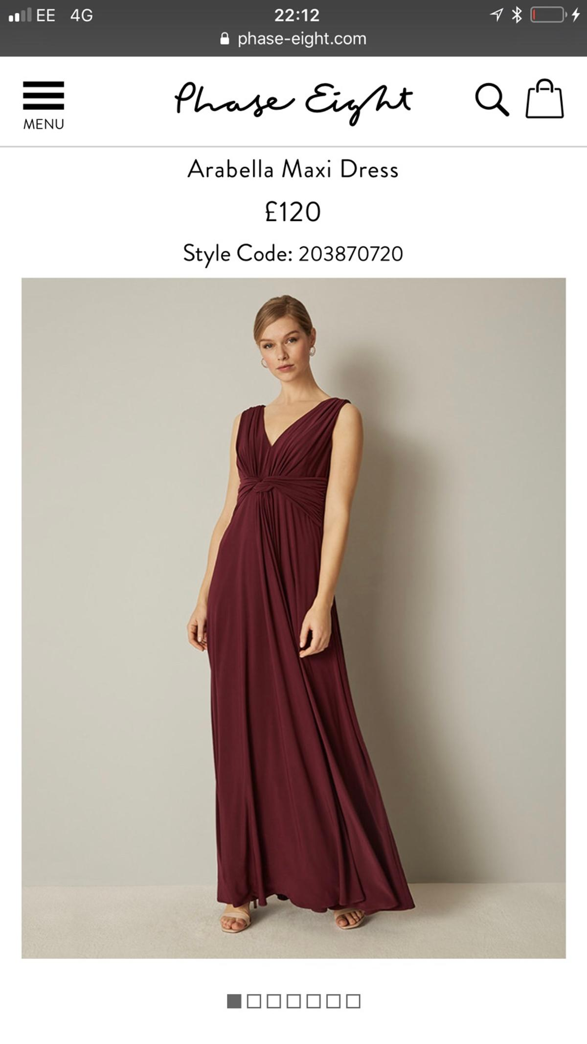 PHASE EIGHT bridesmaid dress Size 10 in