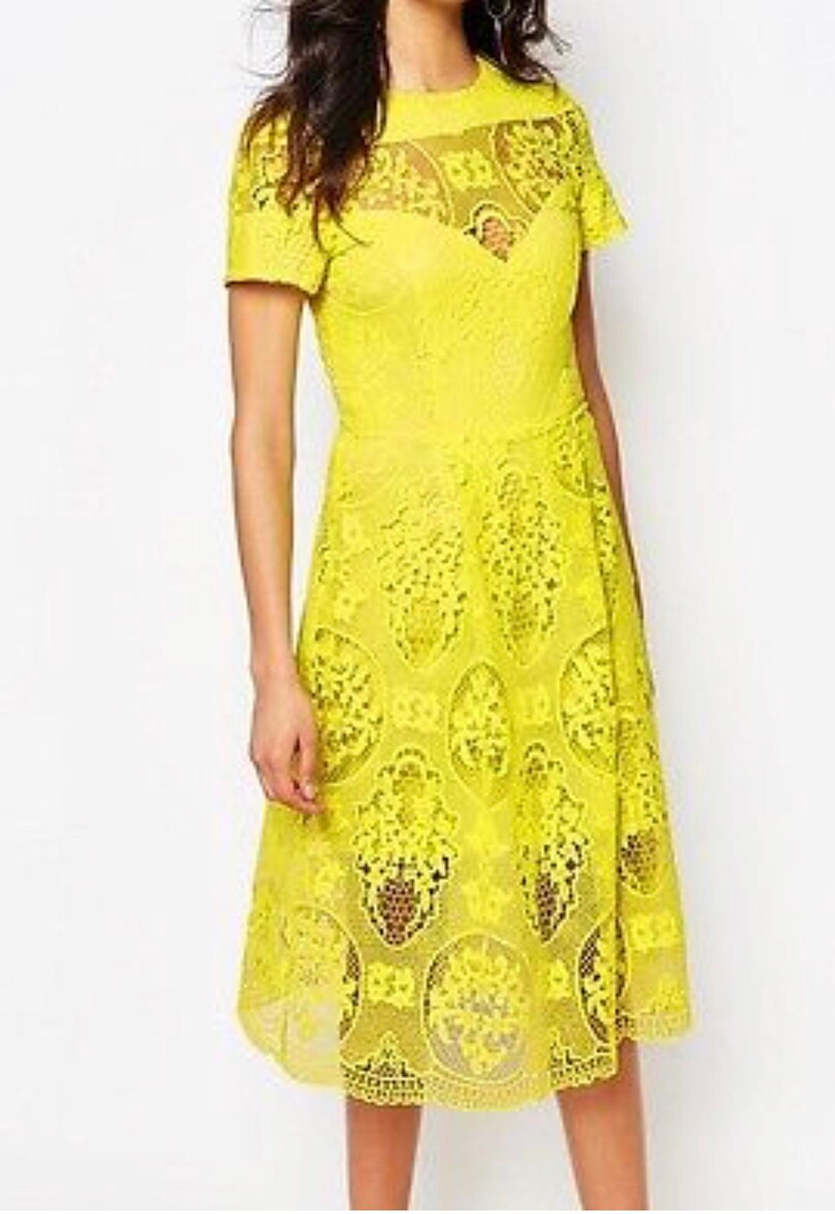 Yellow Lace River Island Dress