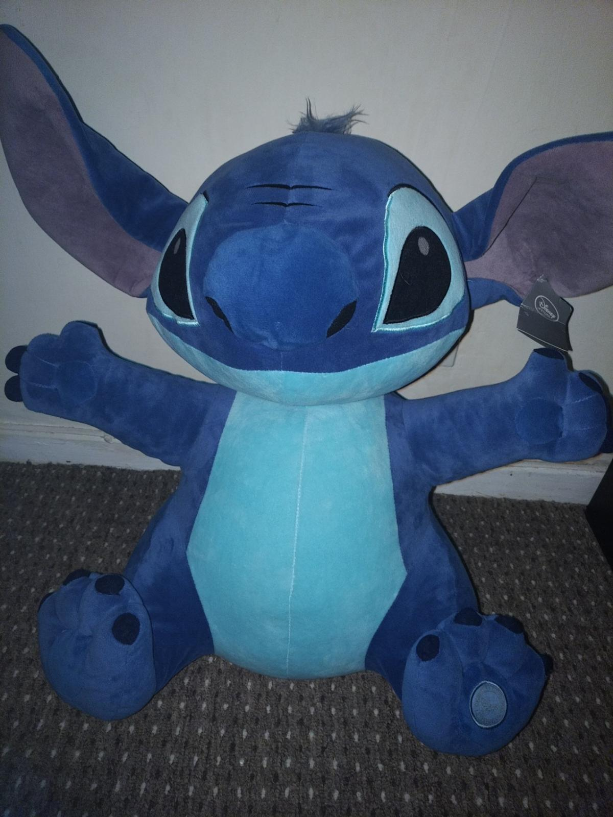 Flounder Stuffed Animal, Giant Stitch Teddy From Disney Store In Tf3 Telford For 35 00 For Sale Shpock
