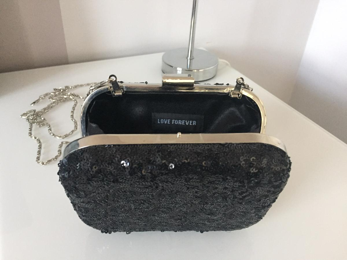 cdf1d91d87e79 Black Sequin Shoulder/Clutch Bag