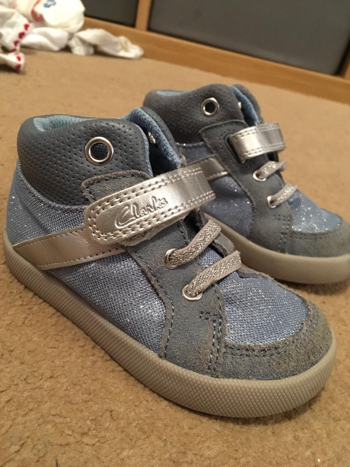 7063736dad0f Clarks First Shoes 5.5 F sparkly blue in KT15 Runnymede for £5.00 ...