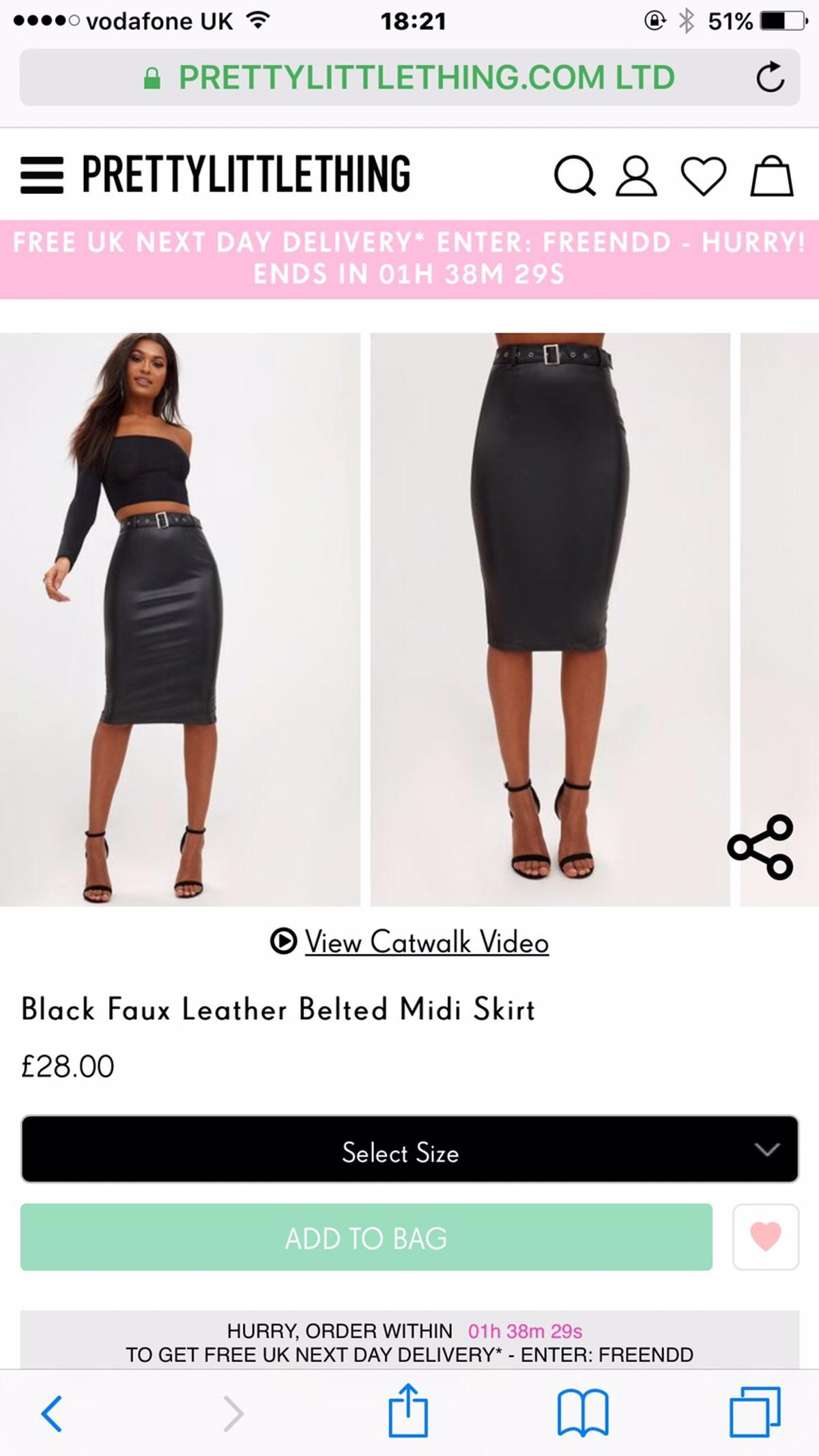 shop for official search for original dirt cheap PLT Leather Skirt