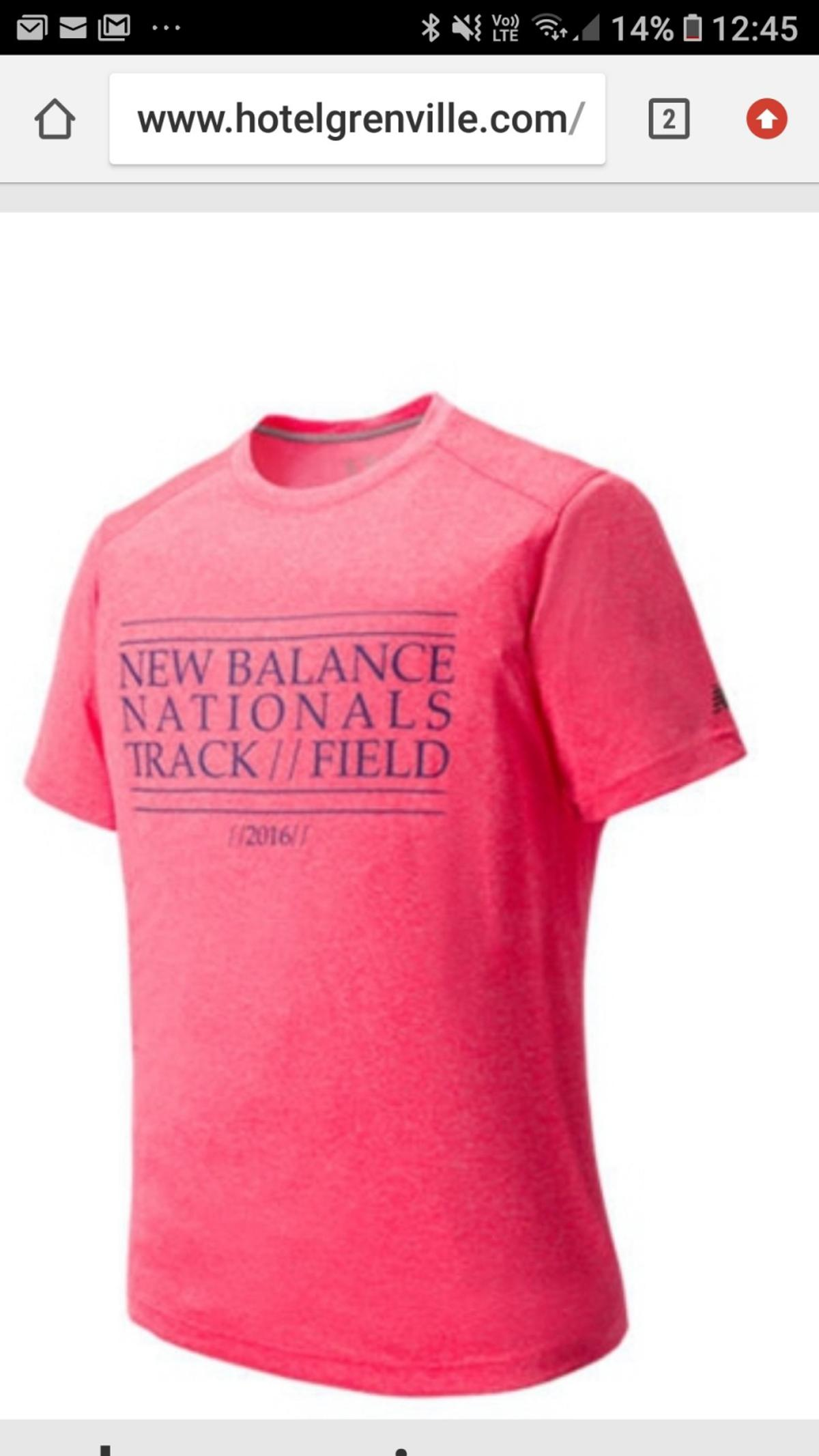dd79f70a82915 new balance t-shirt men's size L in Three Rivers for £9.99 for sale ...