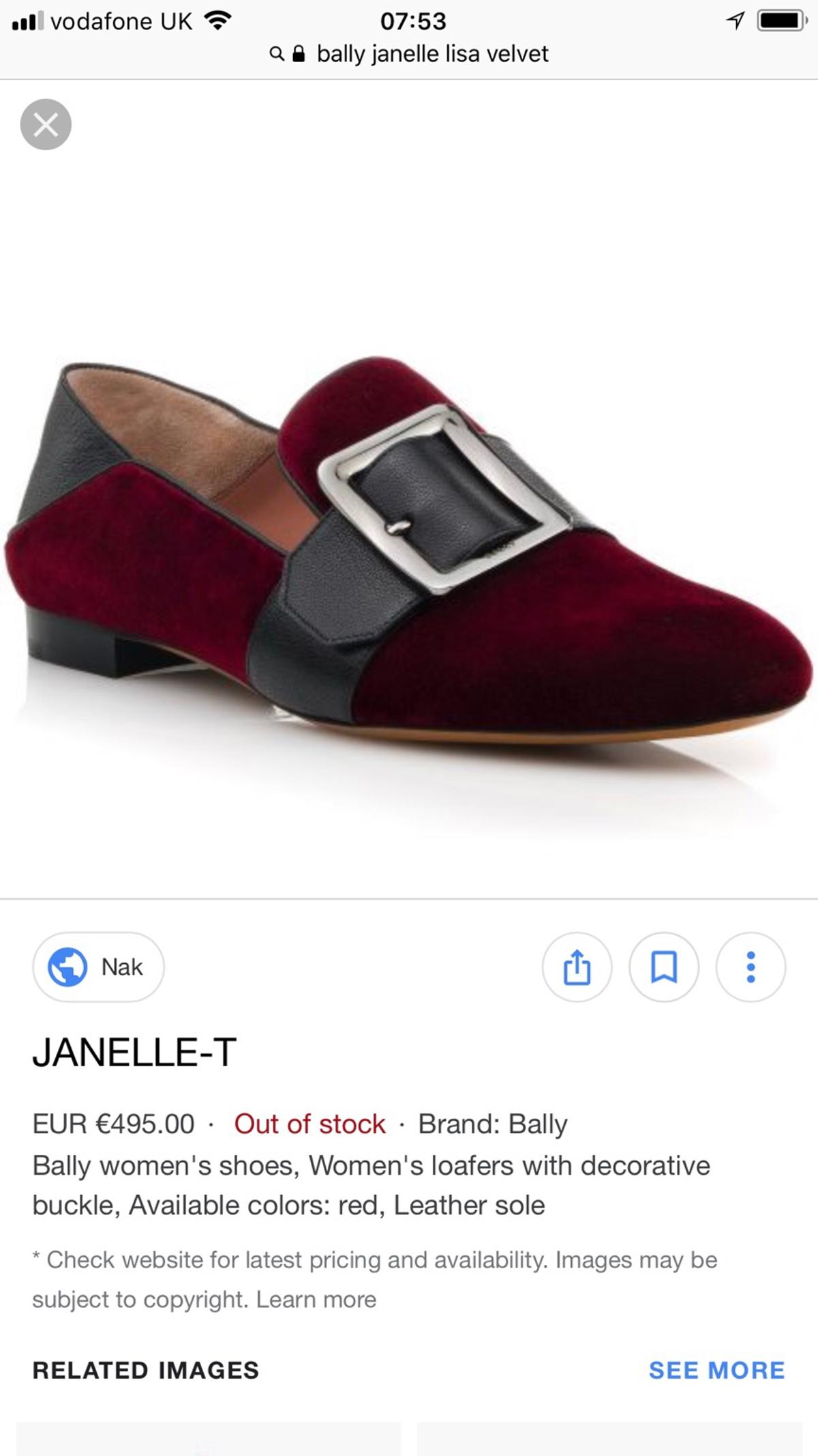 beauty unique design low cost NEW Bally velvet babouche shoes - size 39 in SW6 Fulham for ...