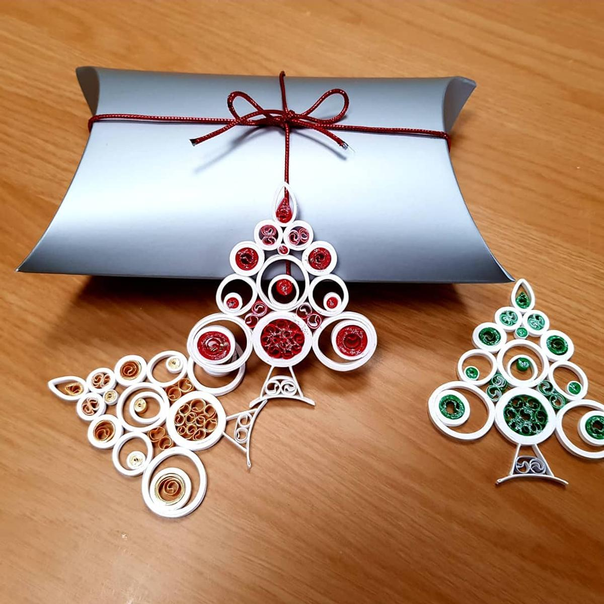 Handmade Paper Quilled Christmas Decorations In Tr22 Agnes