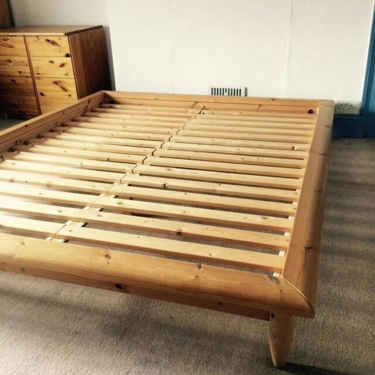 best service 29803 b64b0 Solid wood king bed frame – IKEA Hagali in E8 London for ...
