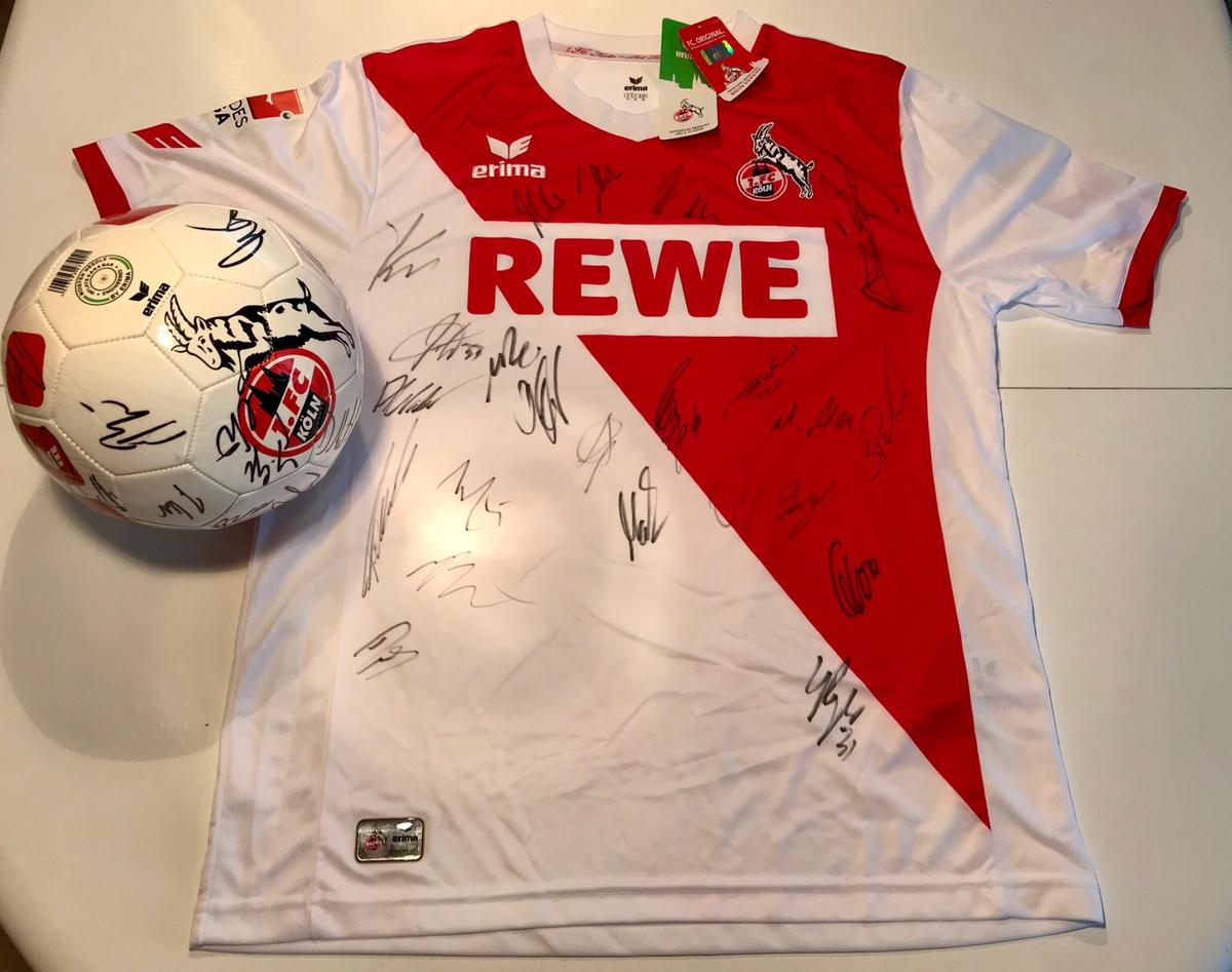 Fan Paket 1. FC Köln: Trikot & Ball signiert in 74379