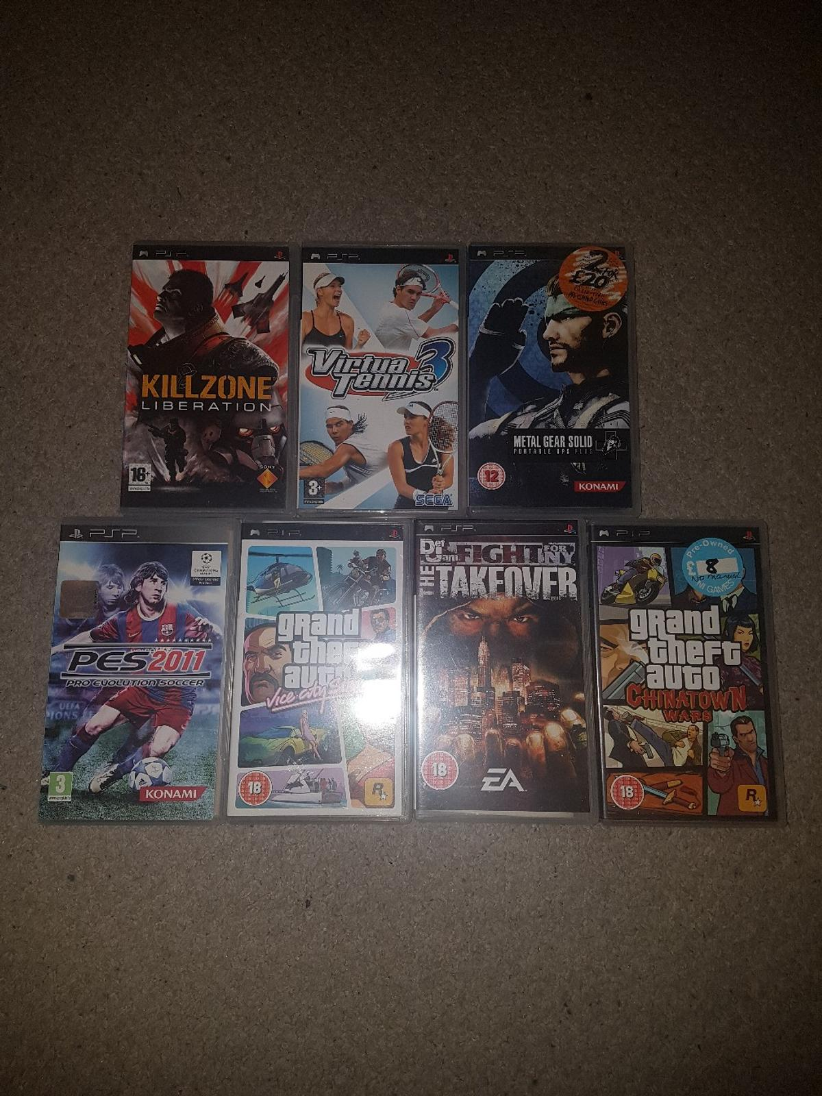 7 PSP GAMES FOR QUICK SALE