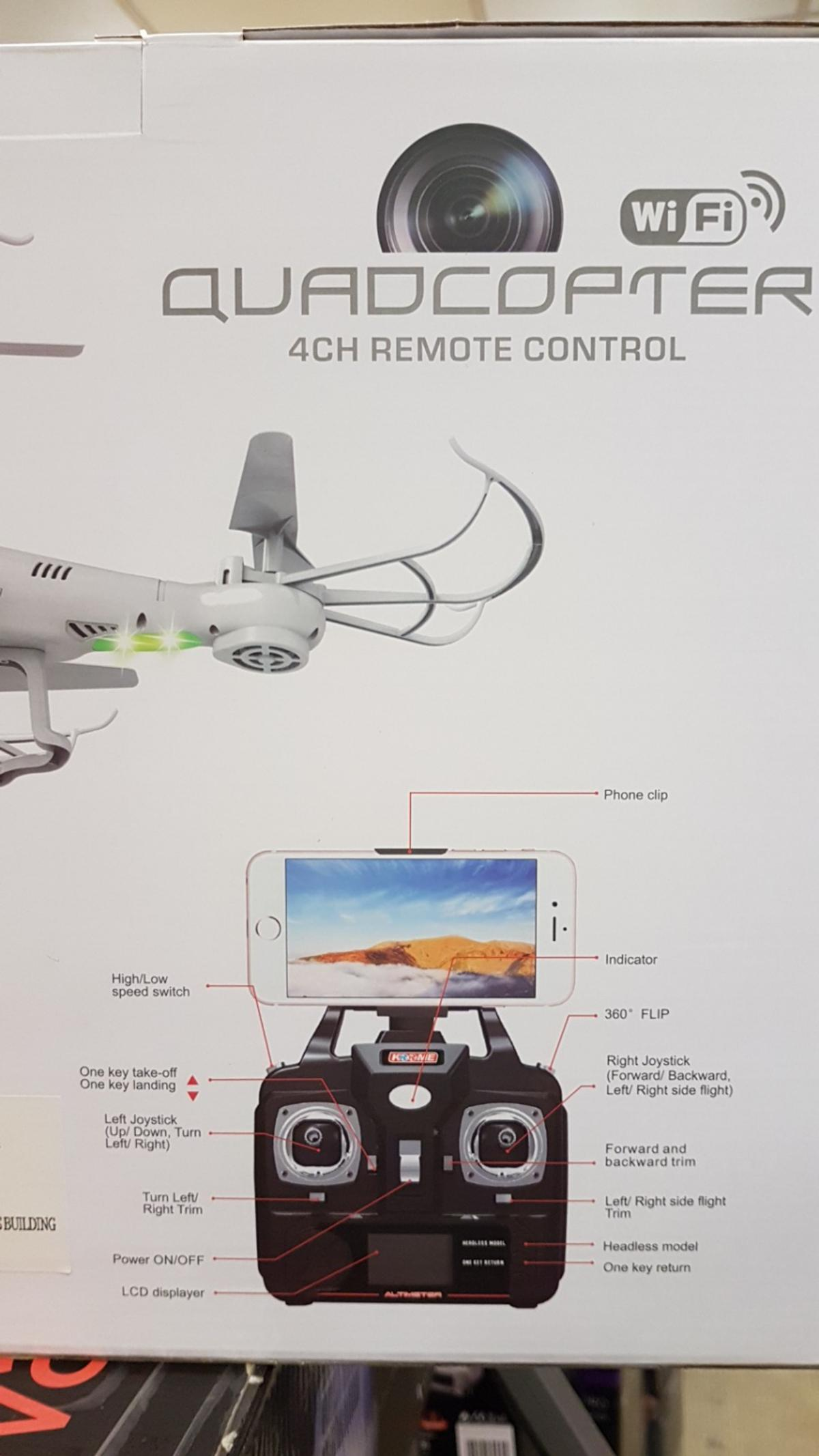Drone/Quadcopter with Camera in B70 Sandwell for £70 00 for