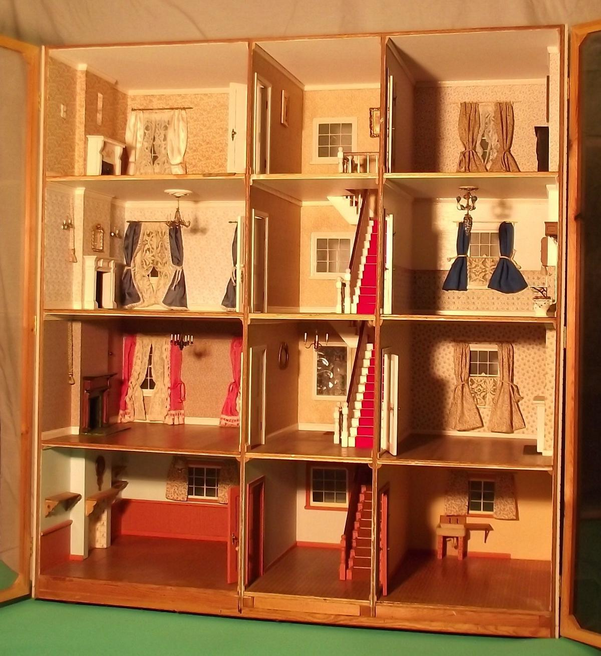 Large Antique Dolls House Display Cabinet In Hu18 Hornsea
