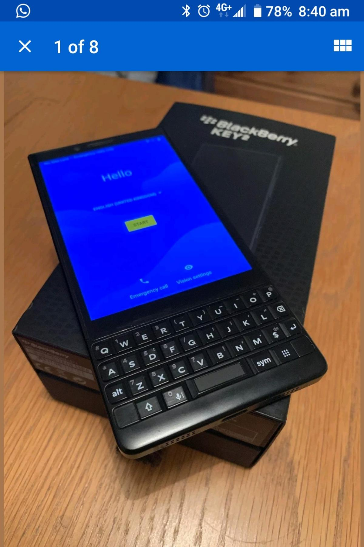Blackberry Key2, boxed, great condition, unlo