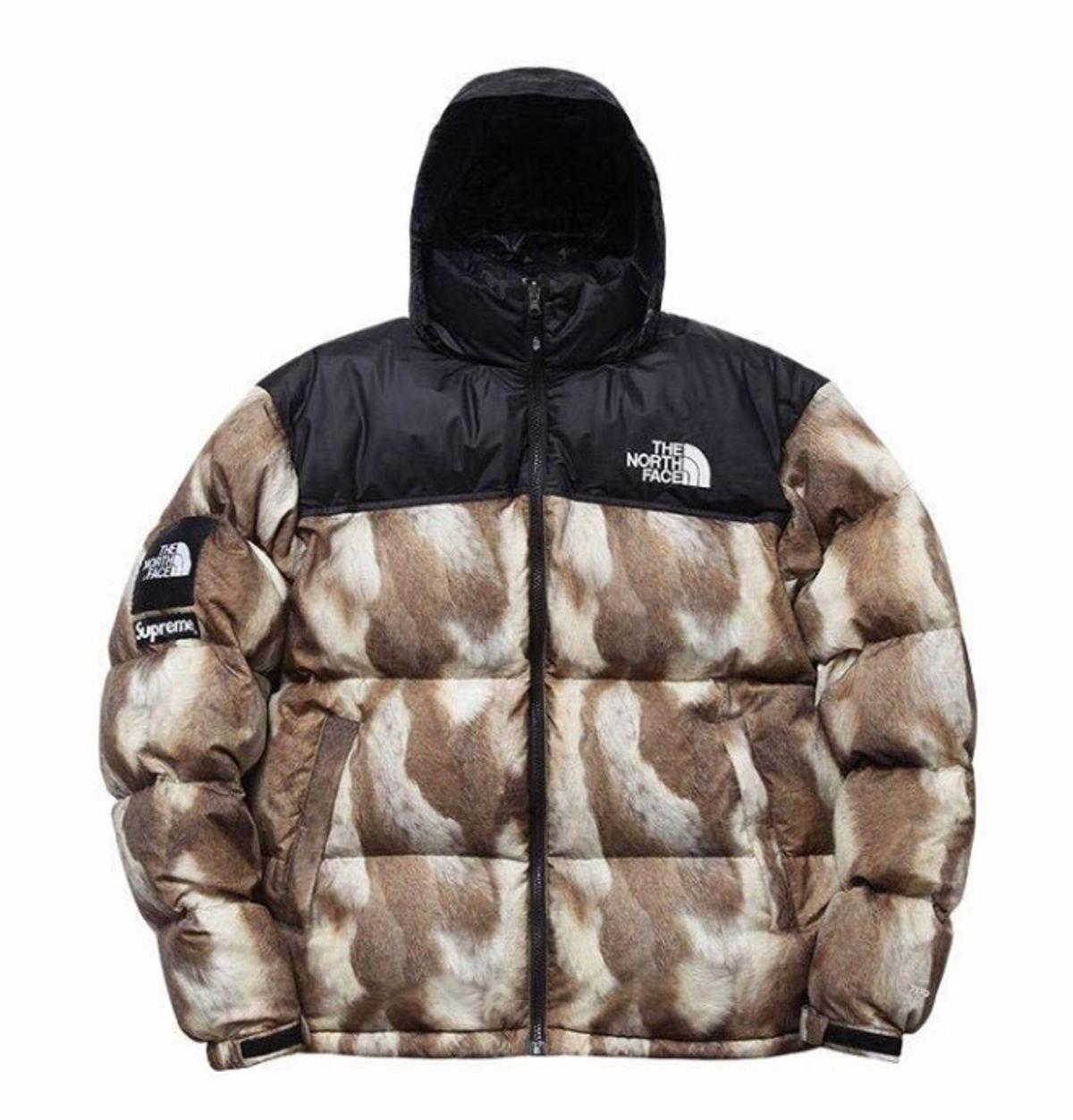 Supreme x The North Face TNF Nuptse Leaves Jacket size XL