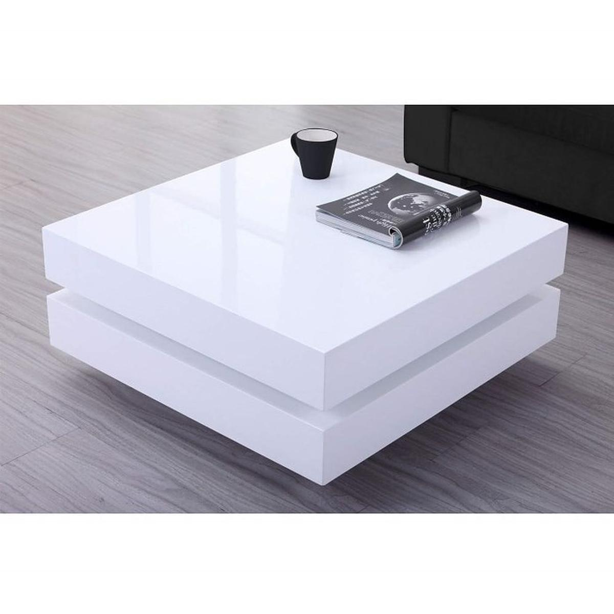 Tiffany White High Gloss Led Coffee Table In Hd2