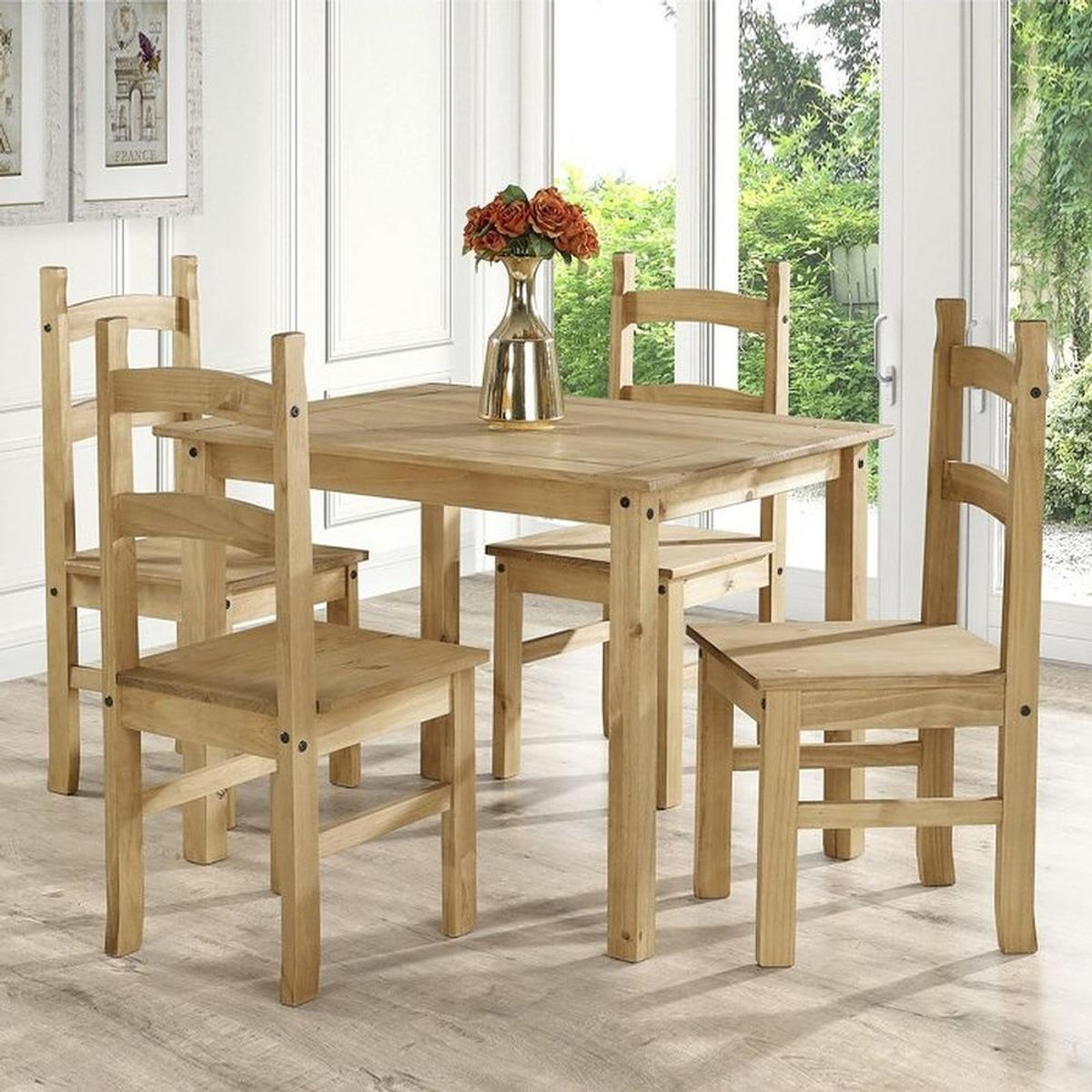 Corona Mexican Solid Pine Dining Set