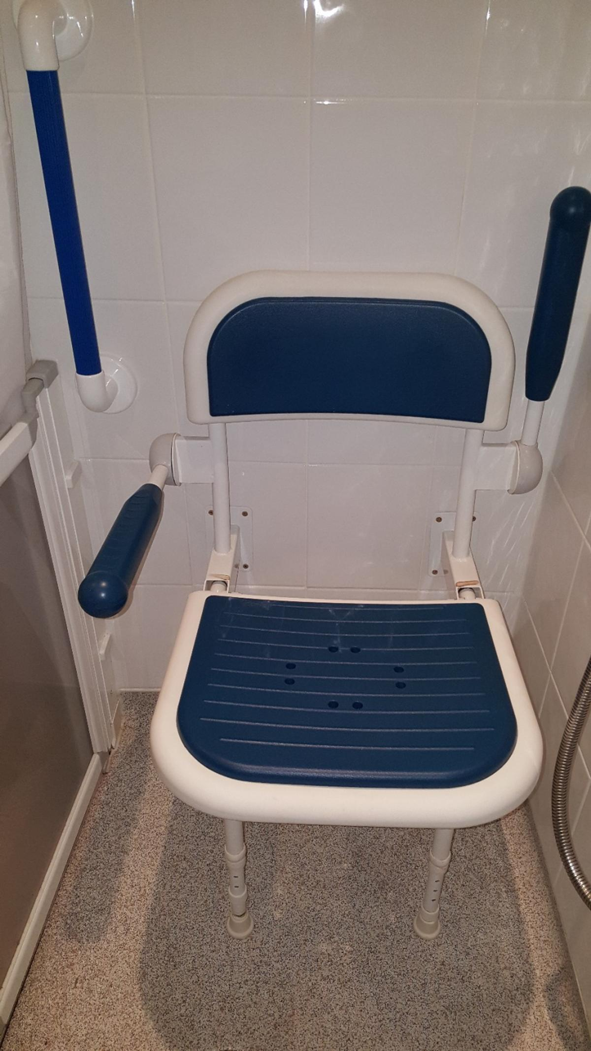 Folding Mobility Bath Seat 2 Wall Support
