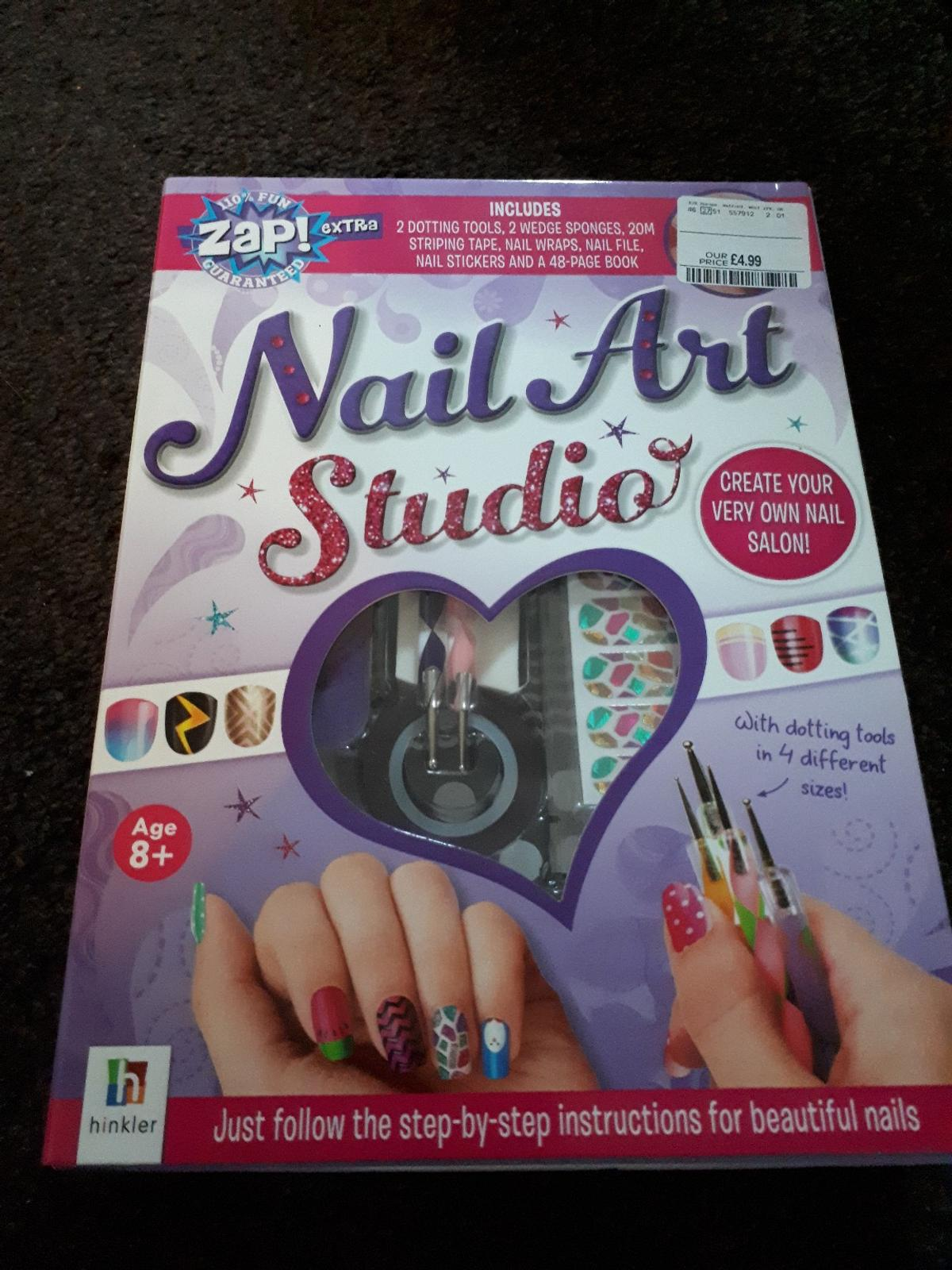 nail art book and accessories