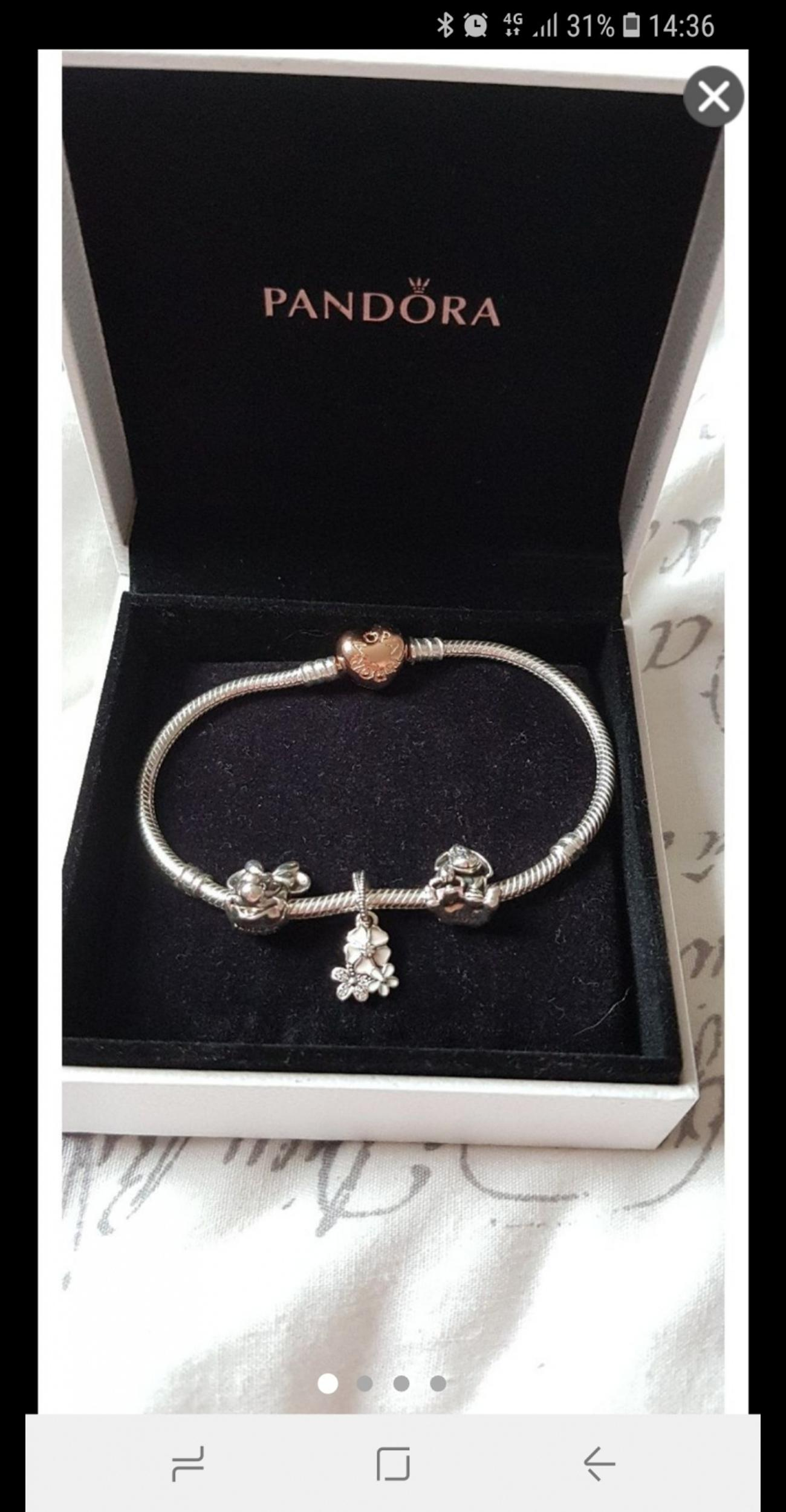 Pandora Bracelet With Rose Gold Heart Clasp In Sr8 Peterlee For 70 00 For Sale Shpock