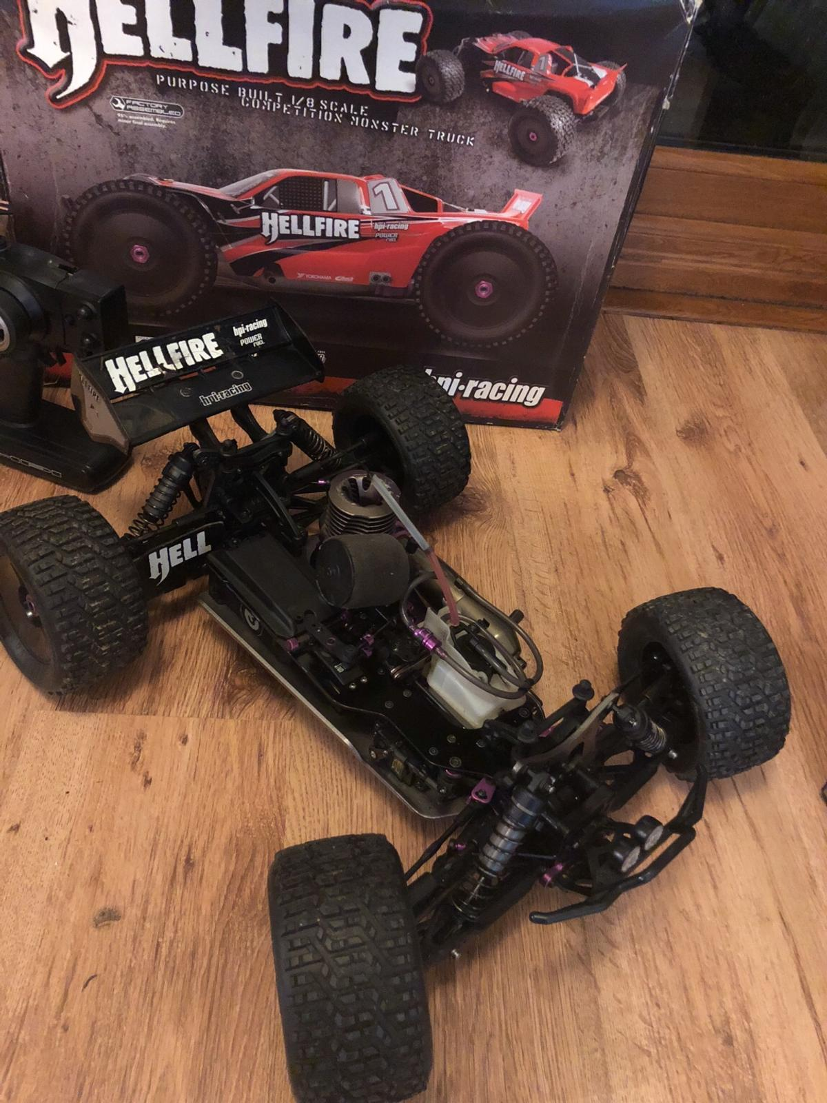 Hpi Hellfire nitro rc 4wd truck/car in Cefn for £110 00 for sale