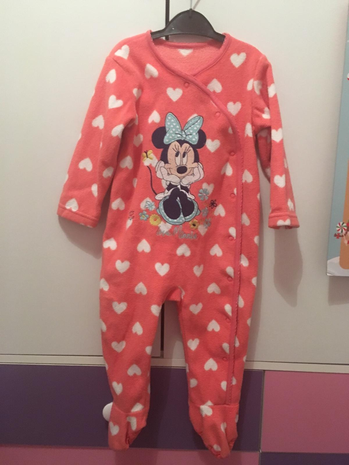 Minnie Mouse Baby Girl Sleepsuit 0-3 Months BNWT
