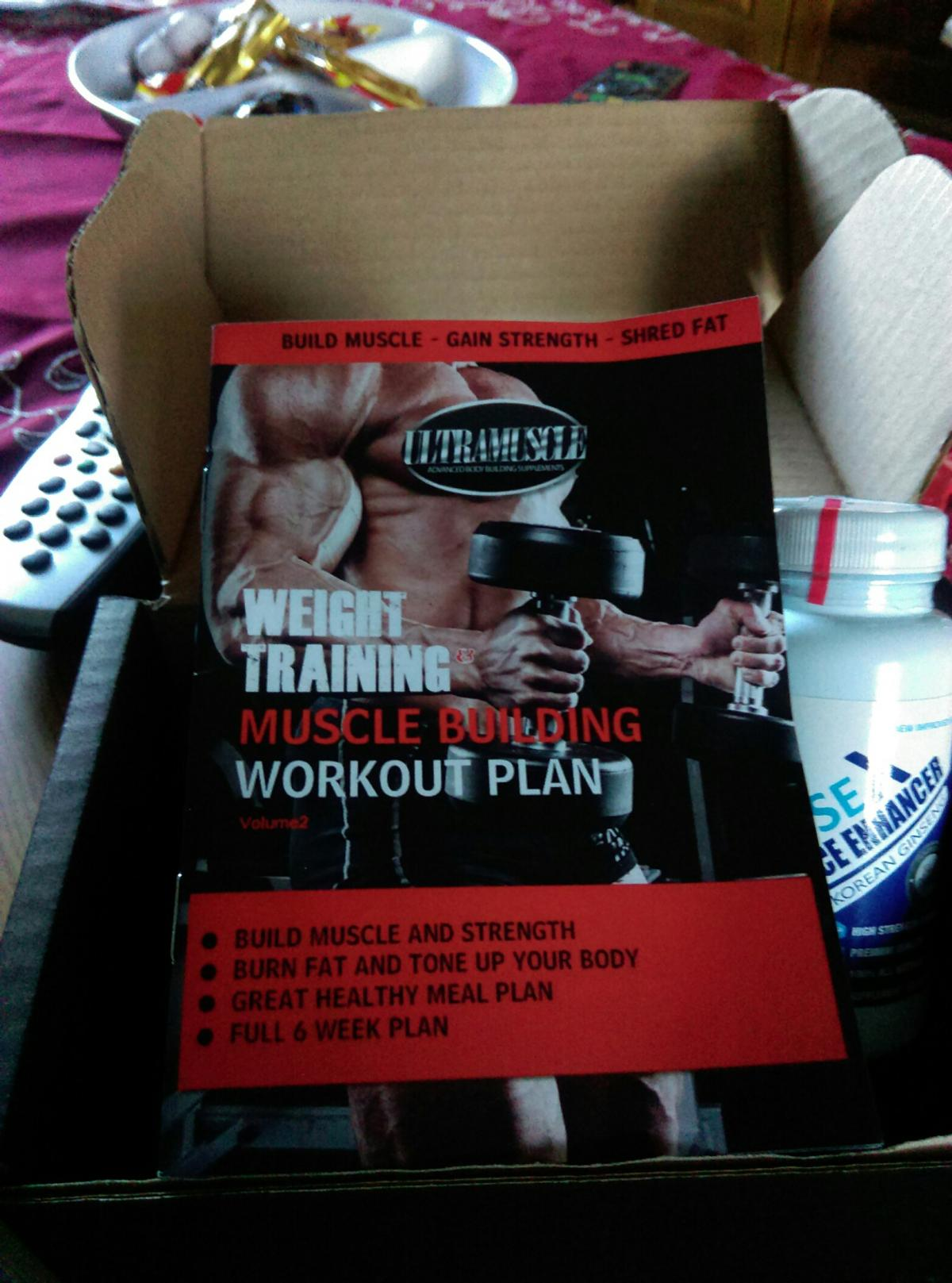 weight training muscle building workout plan