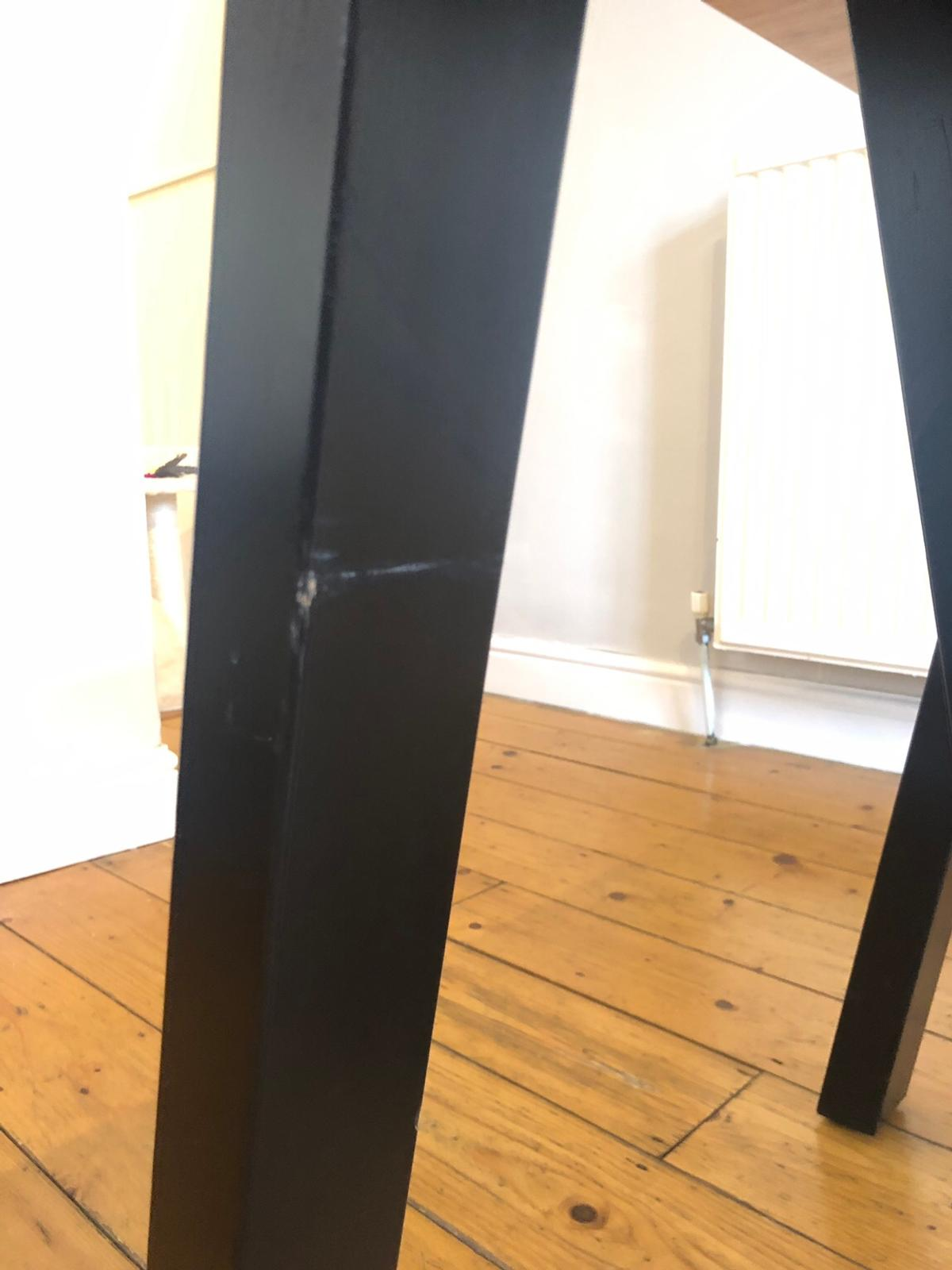 Picture of: Dining Table Black Bamboo 6 Seater In Sw18 Wandsworth For 80 00 For Sale Shpock