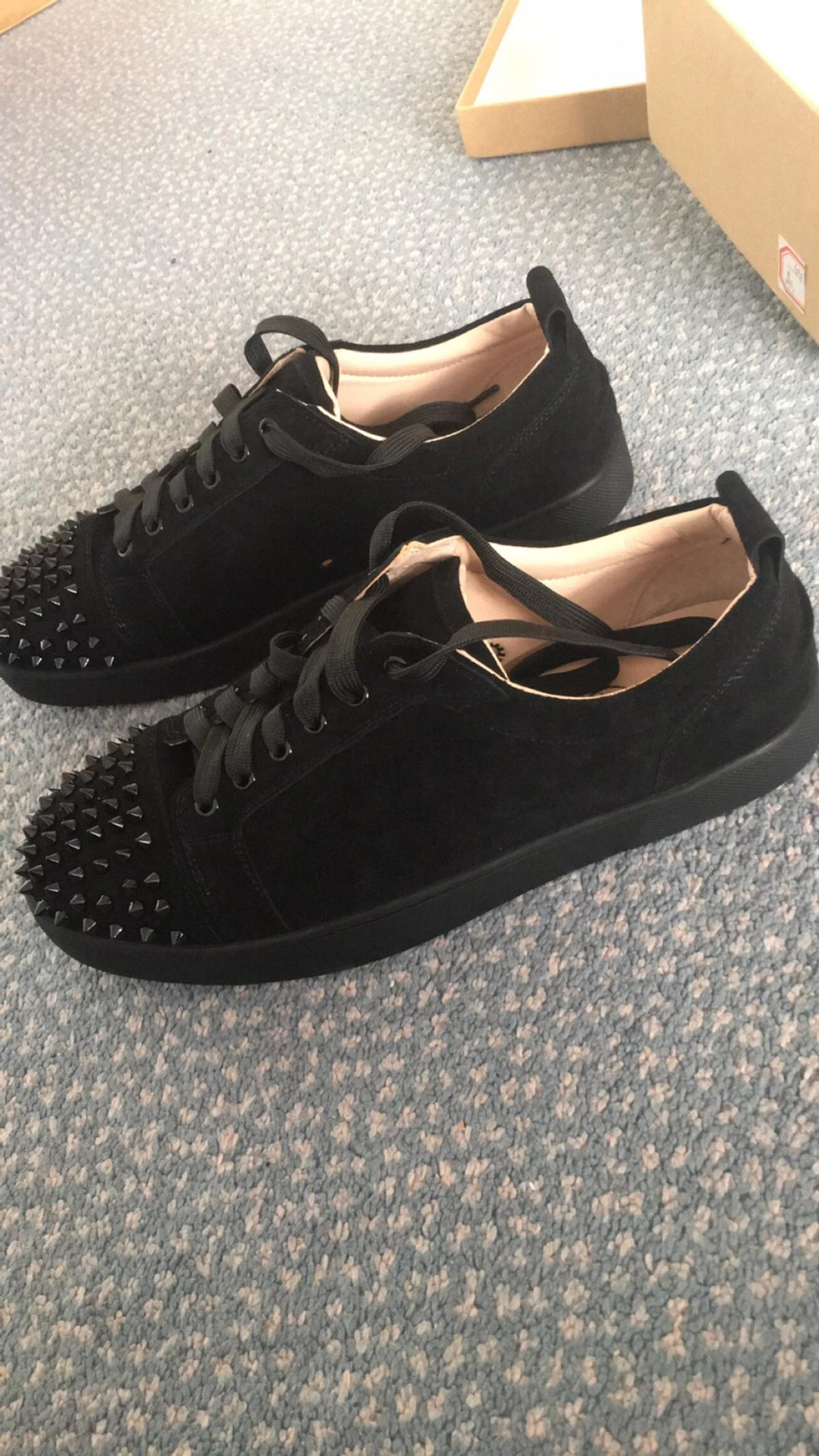 best service e72b2 c76df Christian Louboutin Mens Black Low Top Shoes