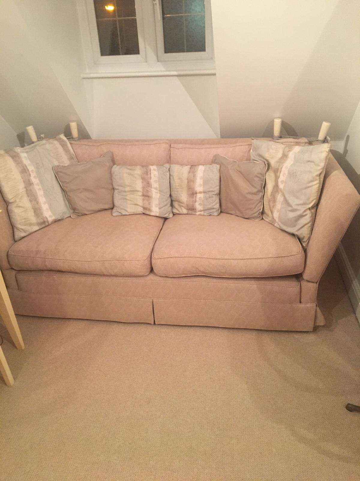 Laura Ashley drop-arm large two seater sofas