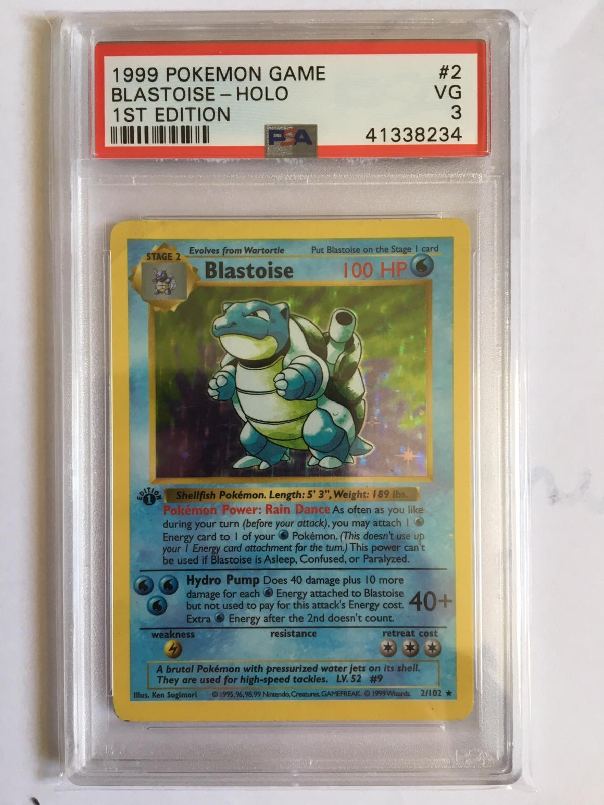 1st Edition pokemon Base set psa charizard in TA21 Deane for