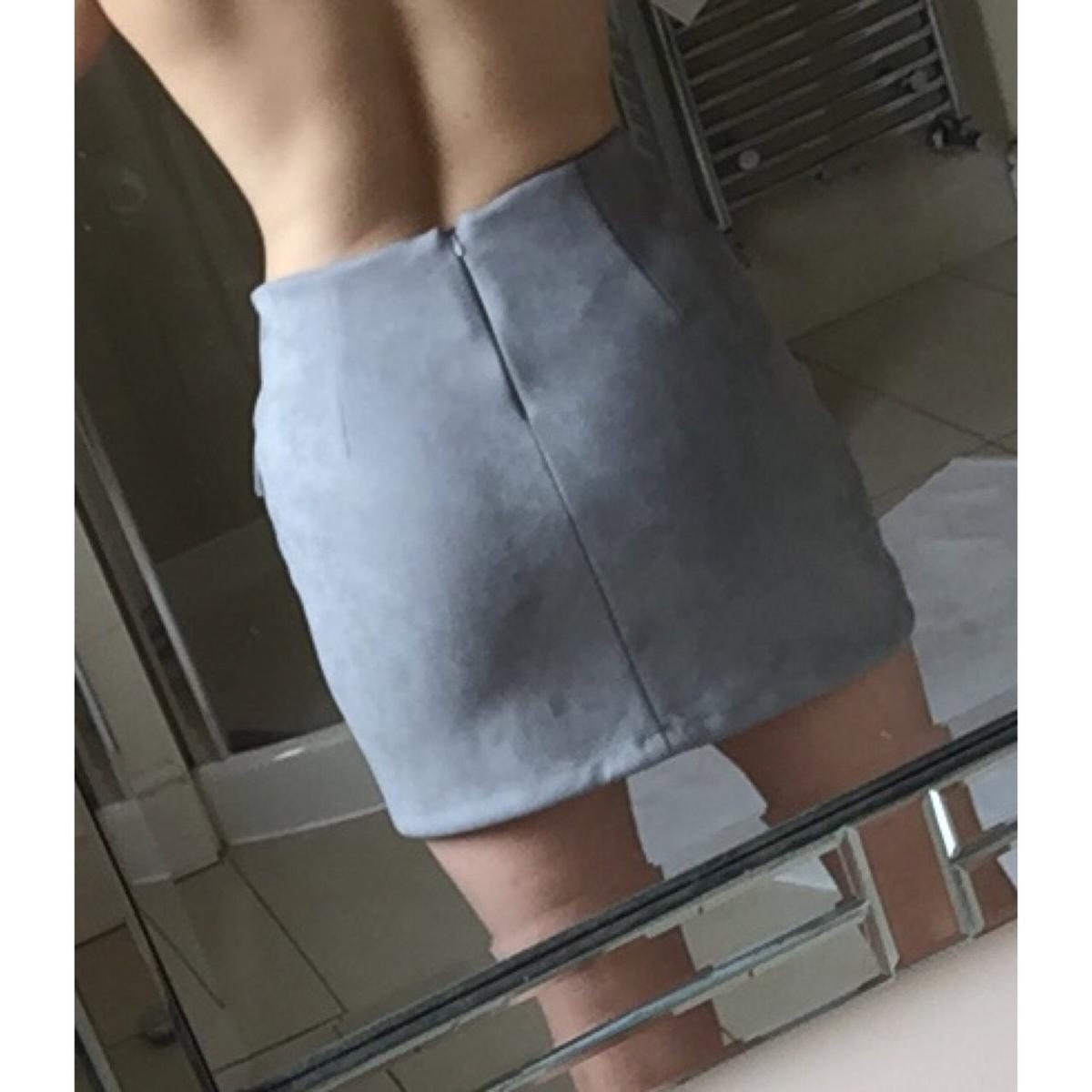 0317840c17 misspap grey faux suede mini skirt in HD7 Kirklees for £10.00 for sale -  Shpock