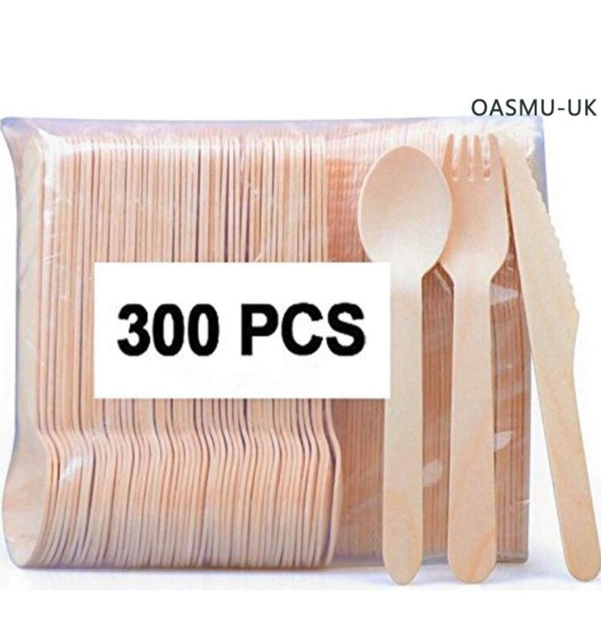 300 Piece Disposable Wooden Cutlery In Bb1 Blackburn For