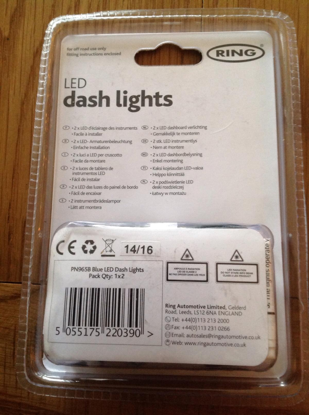 RING LED DASHBOARD LIGHTS (RRP £9+ each) x 12 in B75